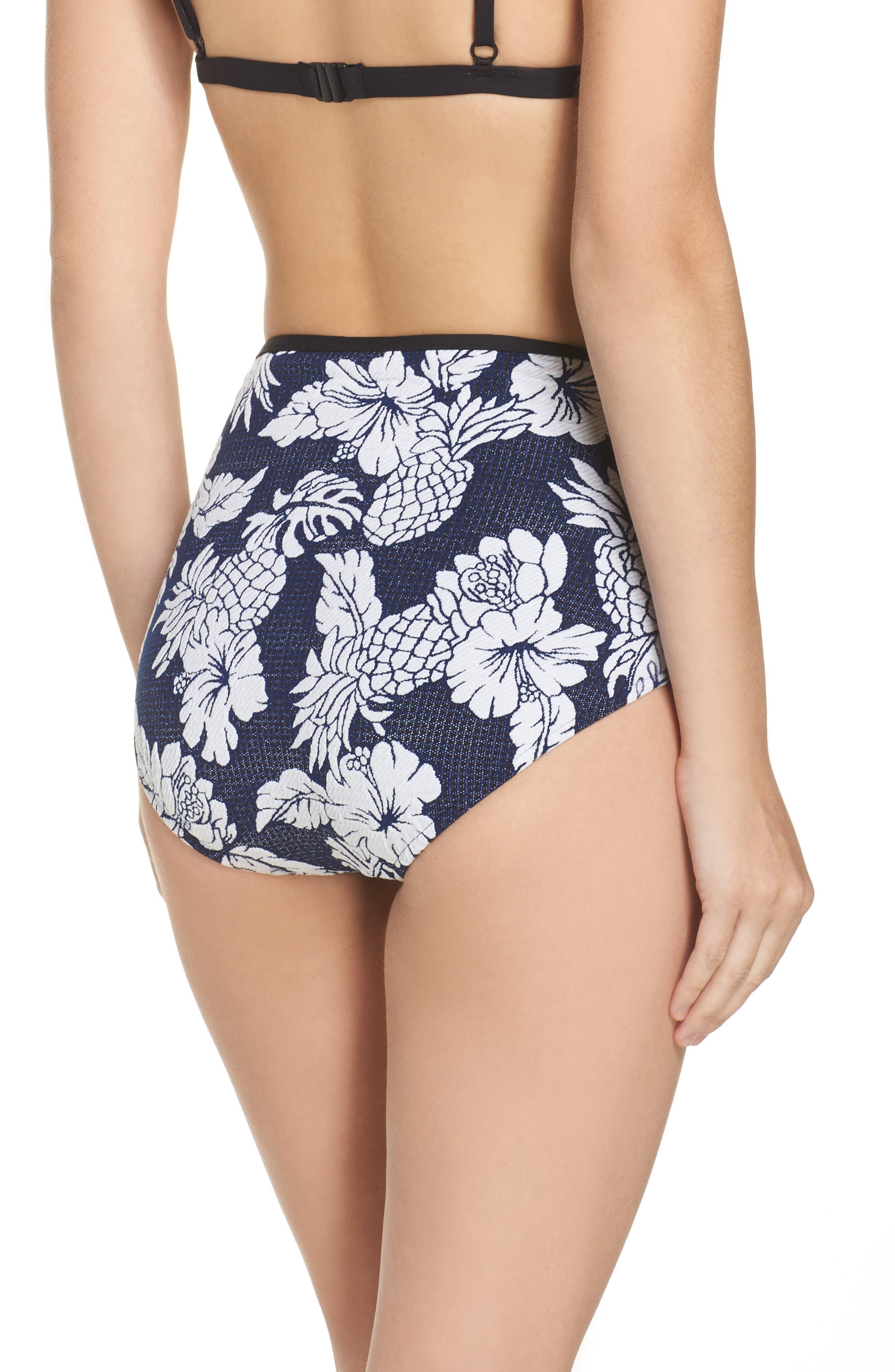 Alternate Image 2  - Seafolly Royal Horizon High Waist Bikini Bottoms