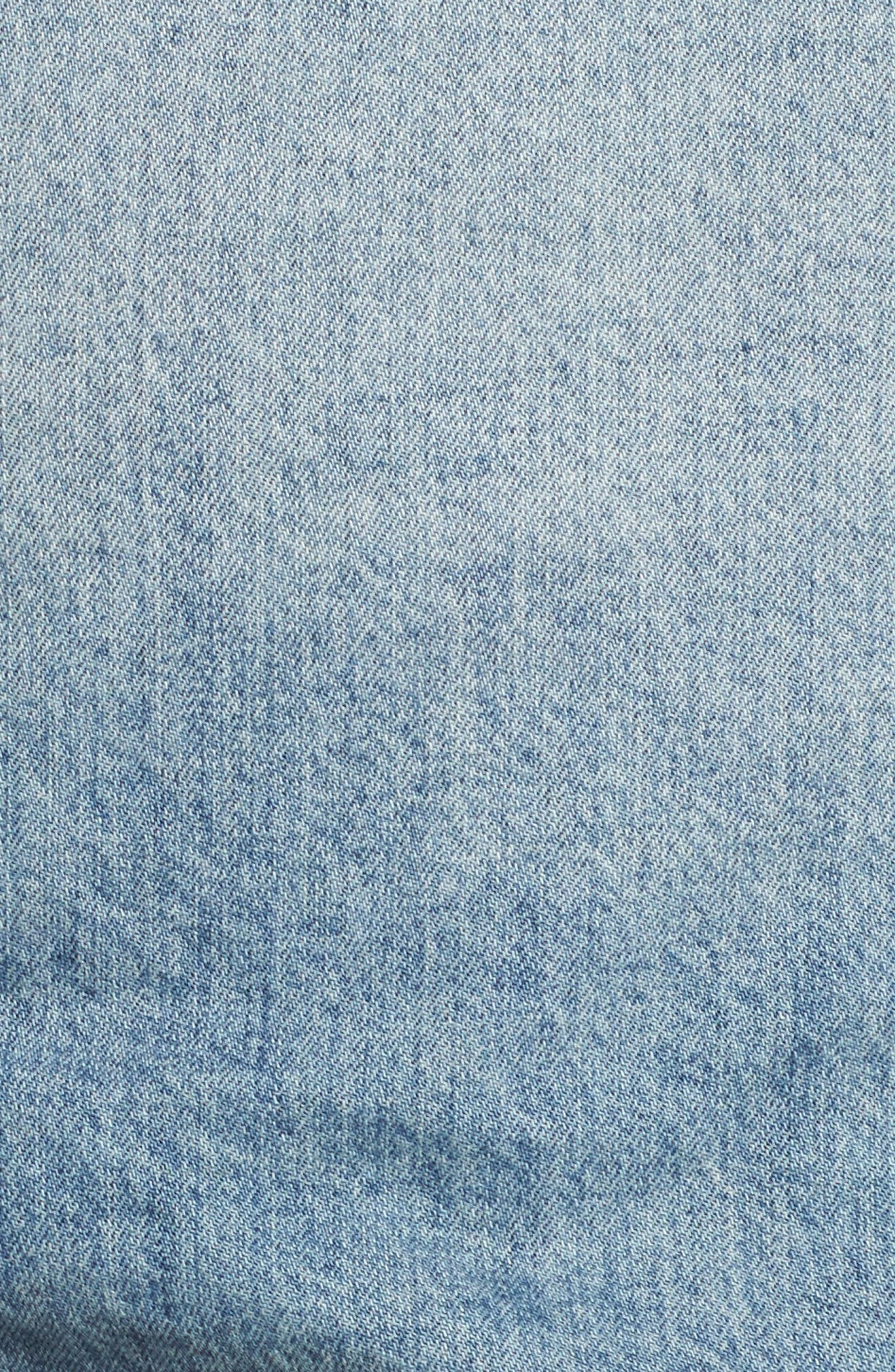 Alternate Image 5  - Lucky Brand Faux Fur Collar Trucker Jacket (Wellton) (Plus Size)
