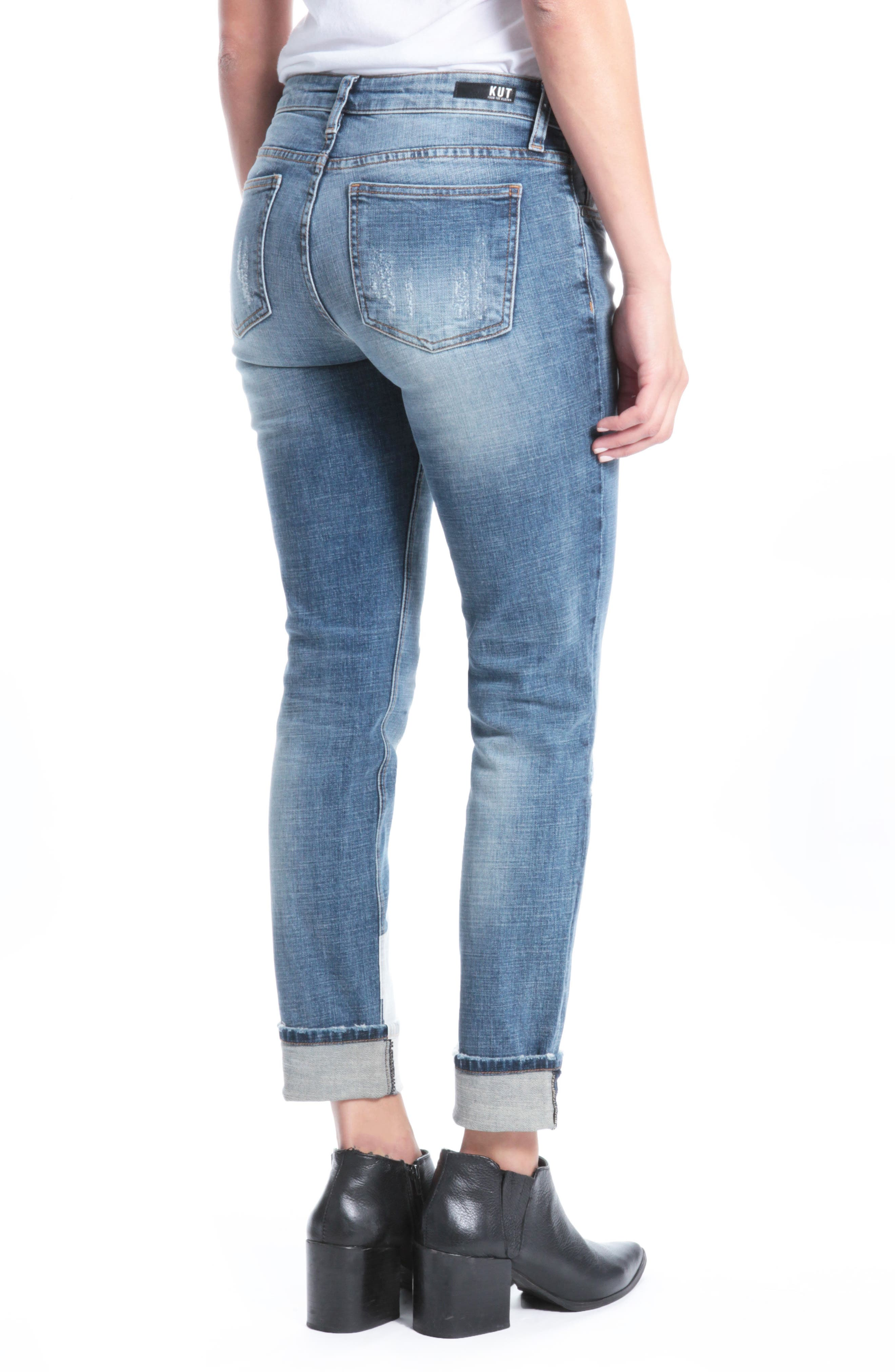 Alternate Image 2  - Kut from the Kloth Catherine Boyfriend Jeans (Livened)