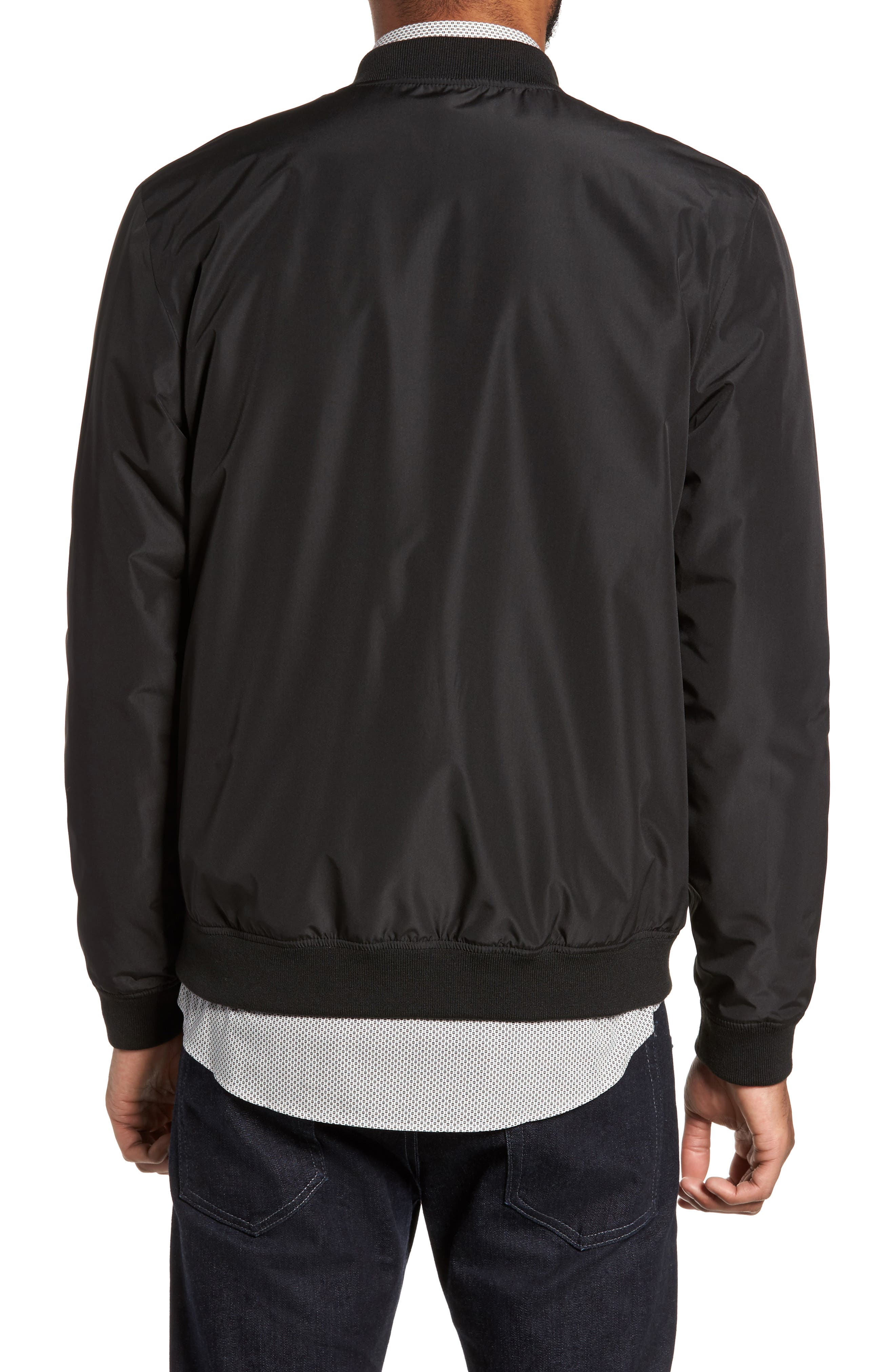 Lightweight Bomber Jacket,                             Alternate thumbnail 2, color,                             Black