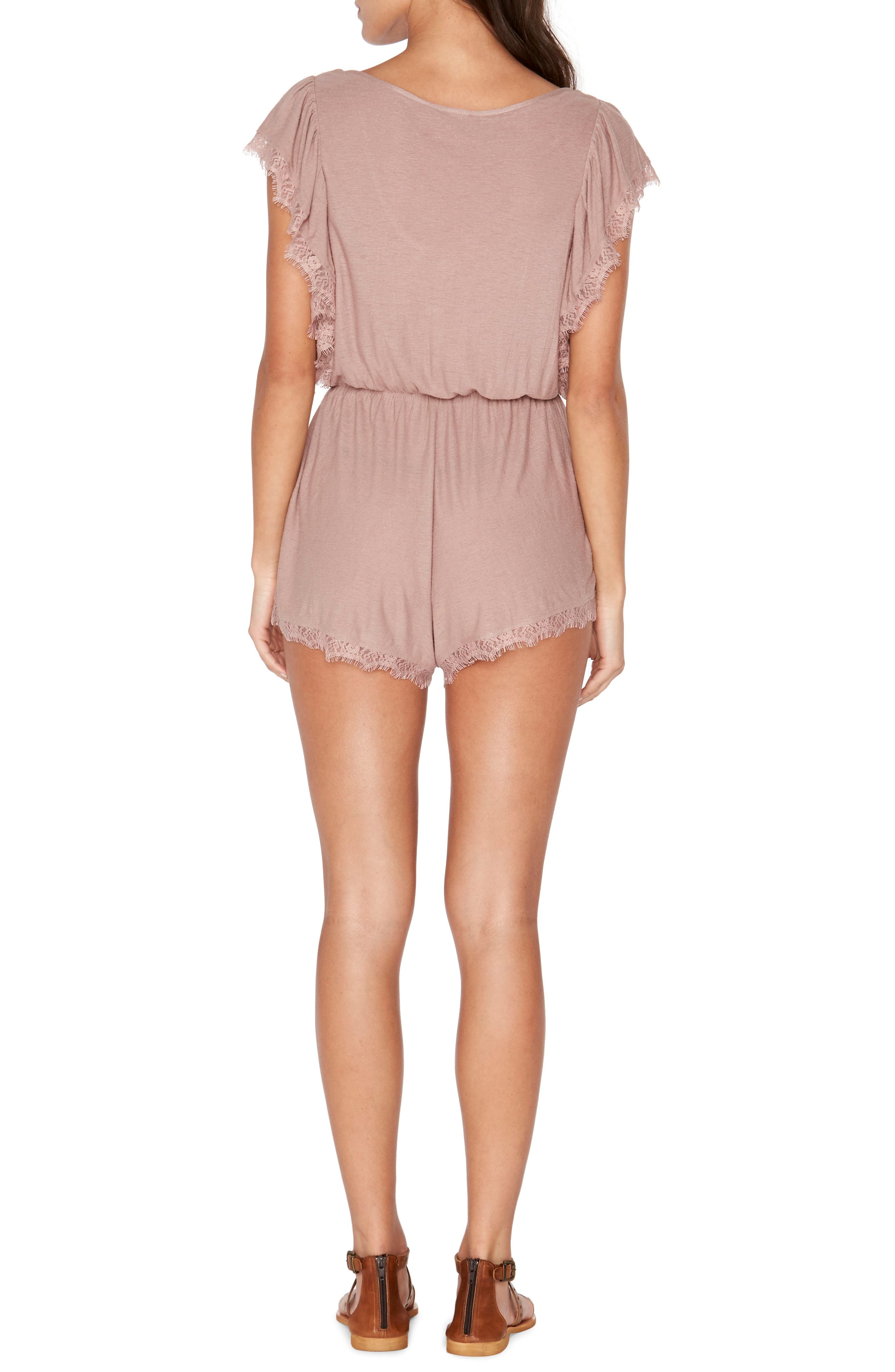 Sweet Life Romper,                             Alternate thumbnail 2, color,                             Dusty Pear