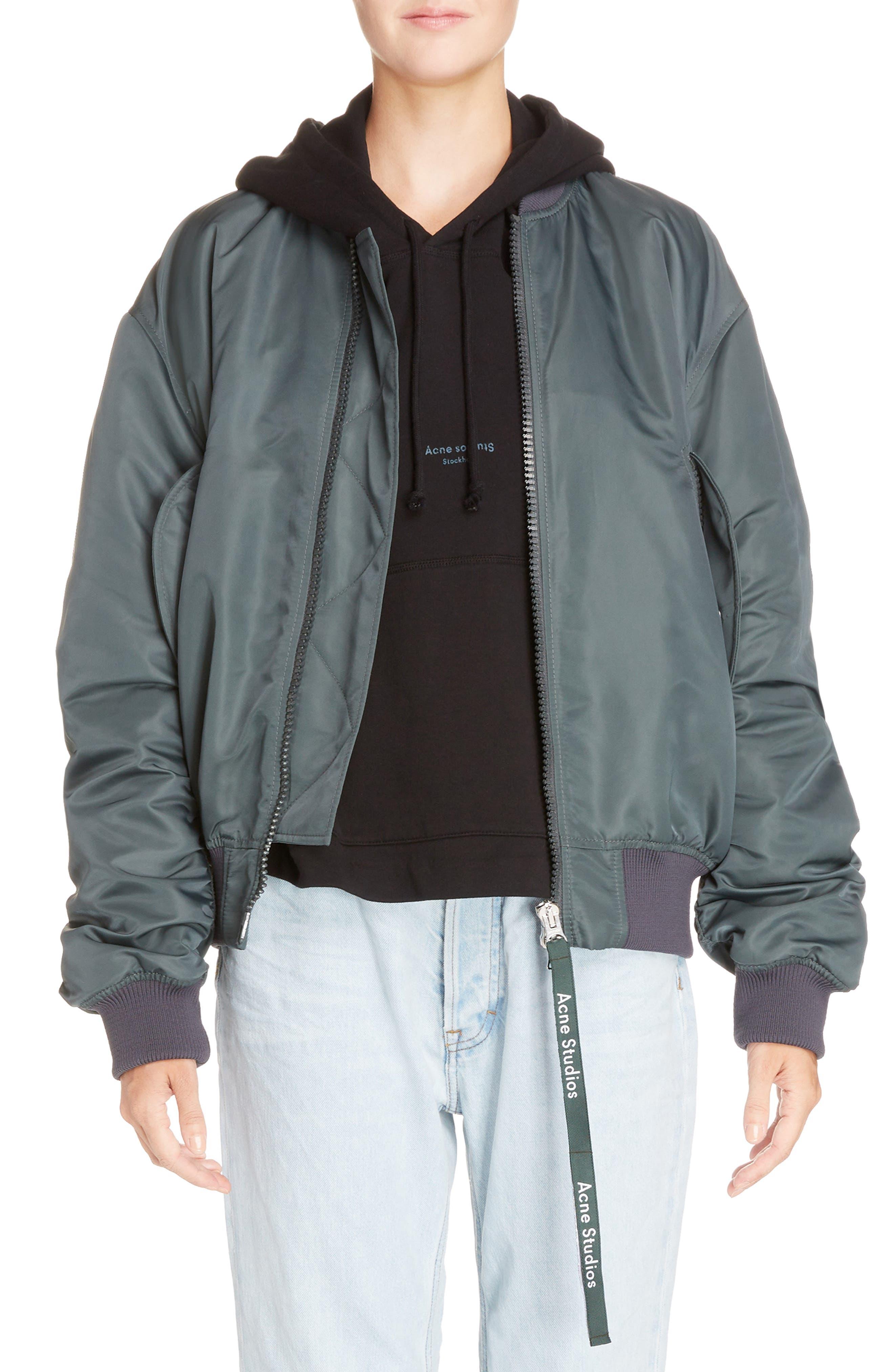 ACNE Studios Clea Crop Bomber Jacket