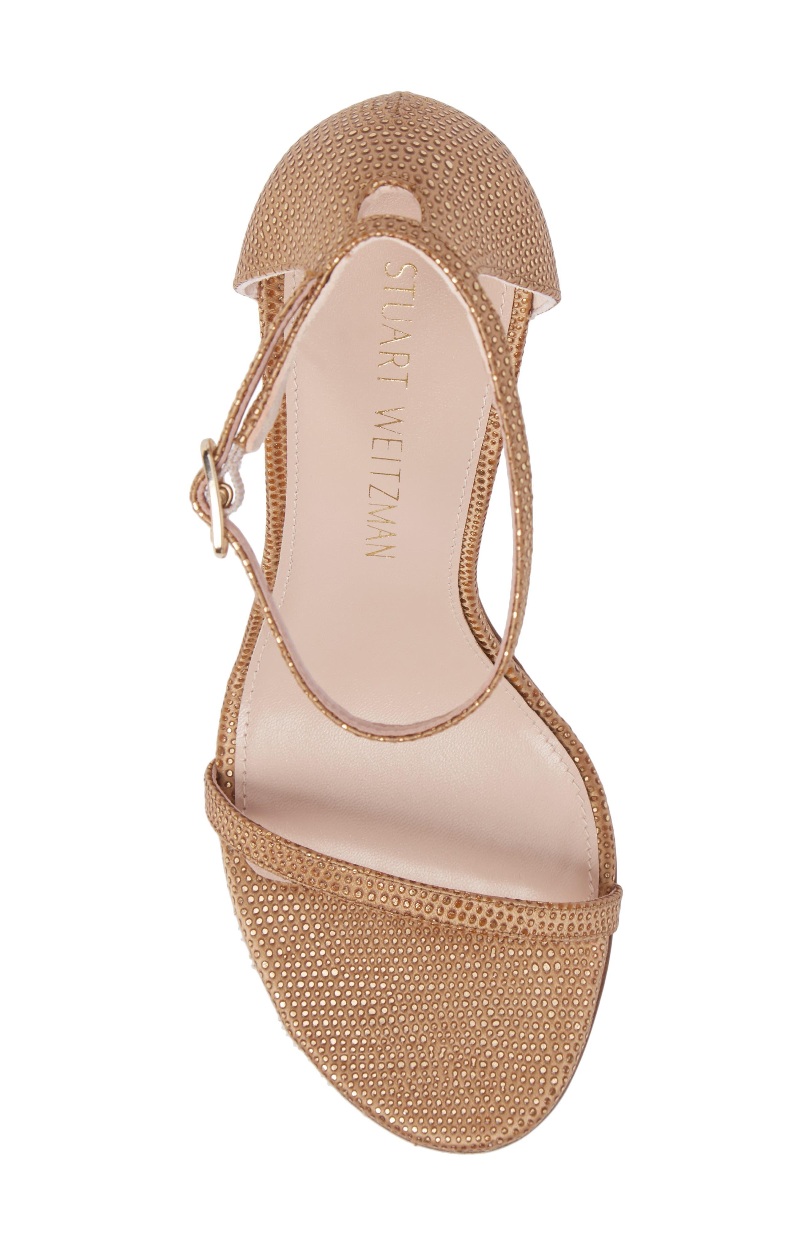 Nudistsong Ankle Strap Sandal,                             Alternate thumbnail 5, color,                             Gold Dot