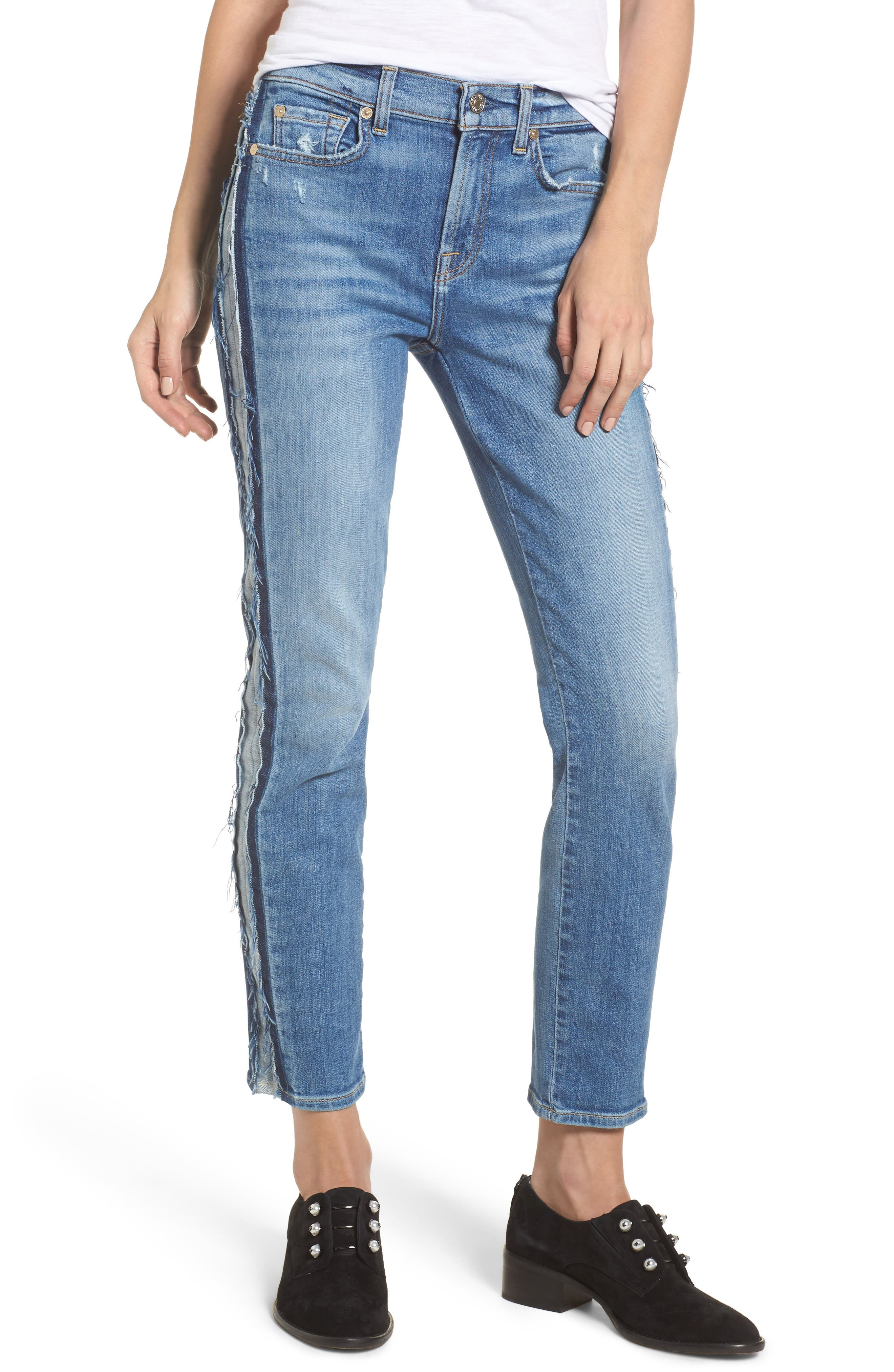 Main Image - 7 For All Mankind® Roxanne Ankle Jeans (Bright Houston)