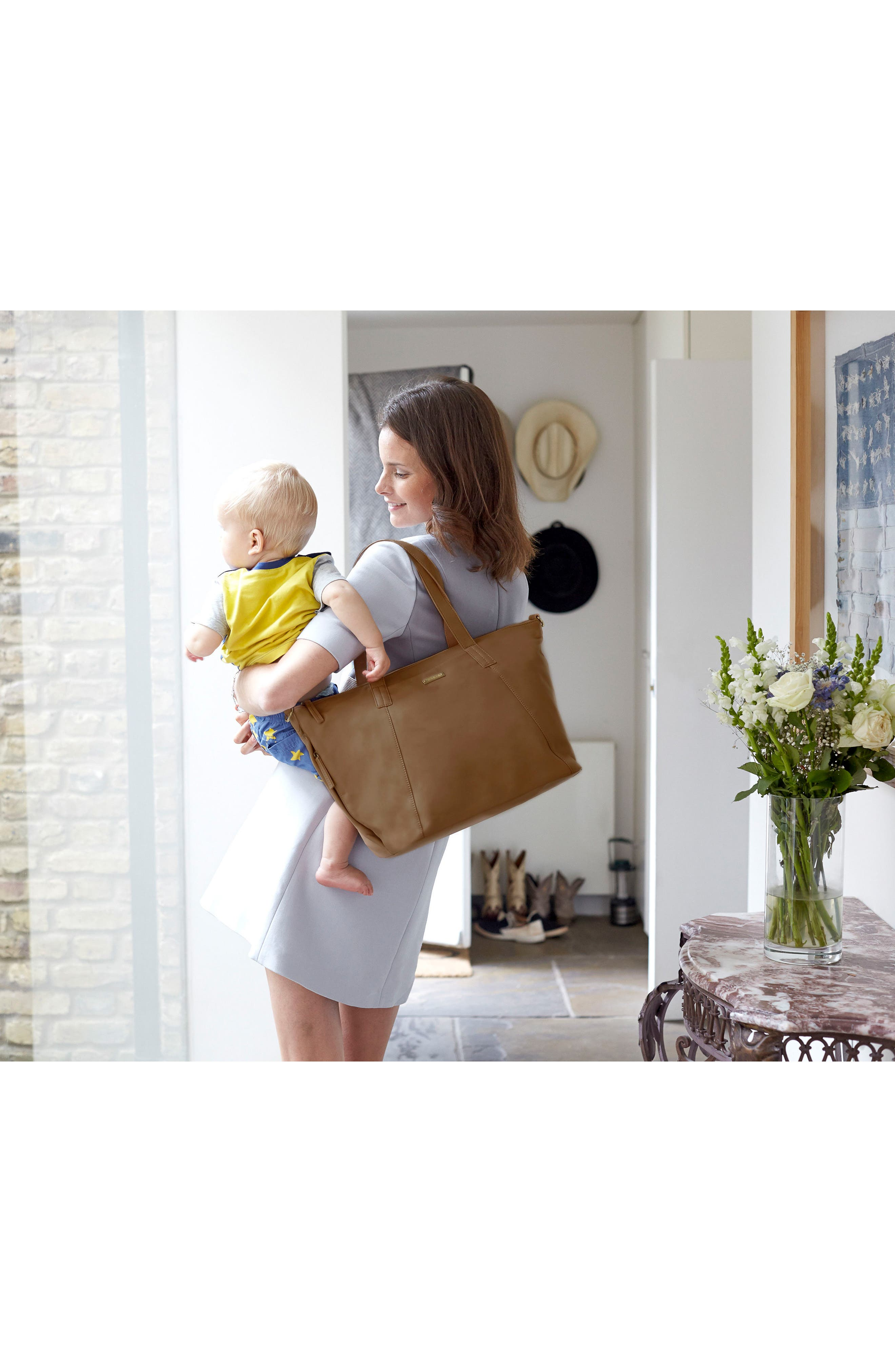 Alternate Image 8  - Storksak NOA Leather Diaper Bag