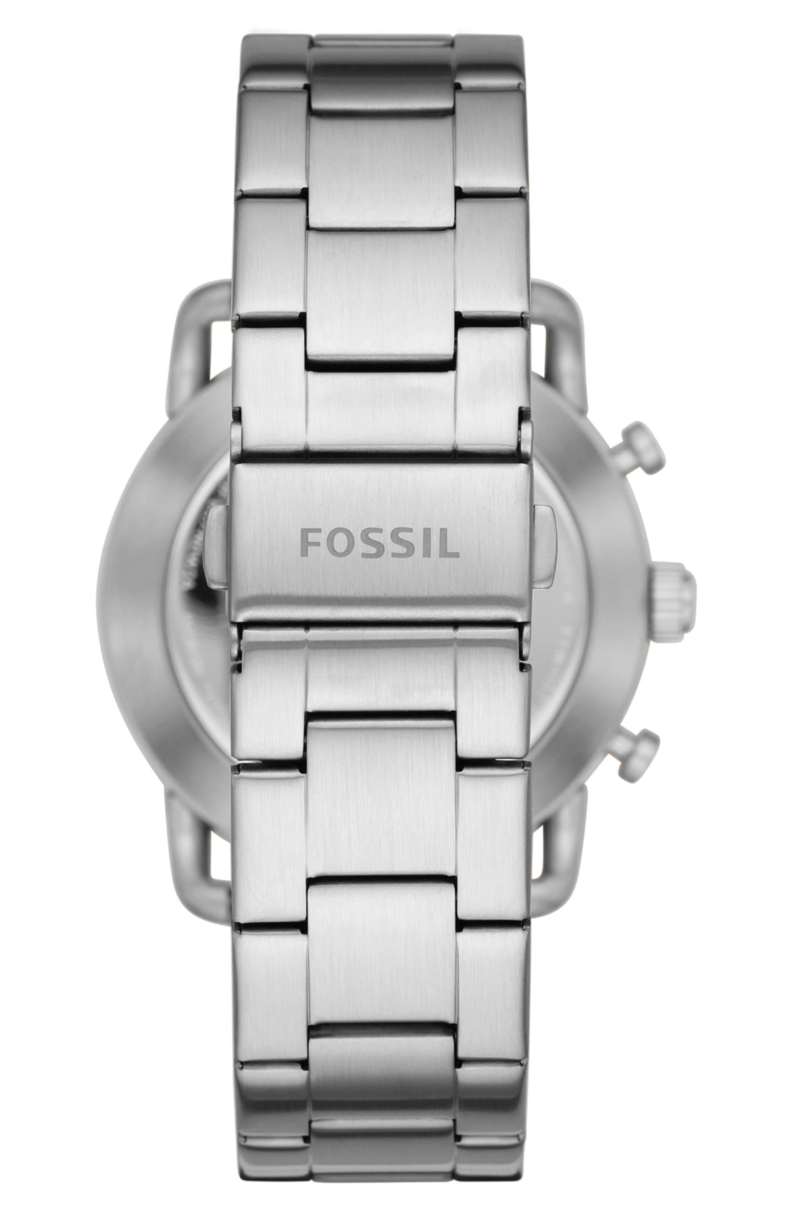 Commuter Bracelet Hybrid Smart Watch, 42mm,                             Alternate thumbnail 3, color,                             Silver