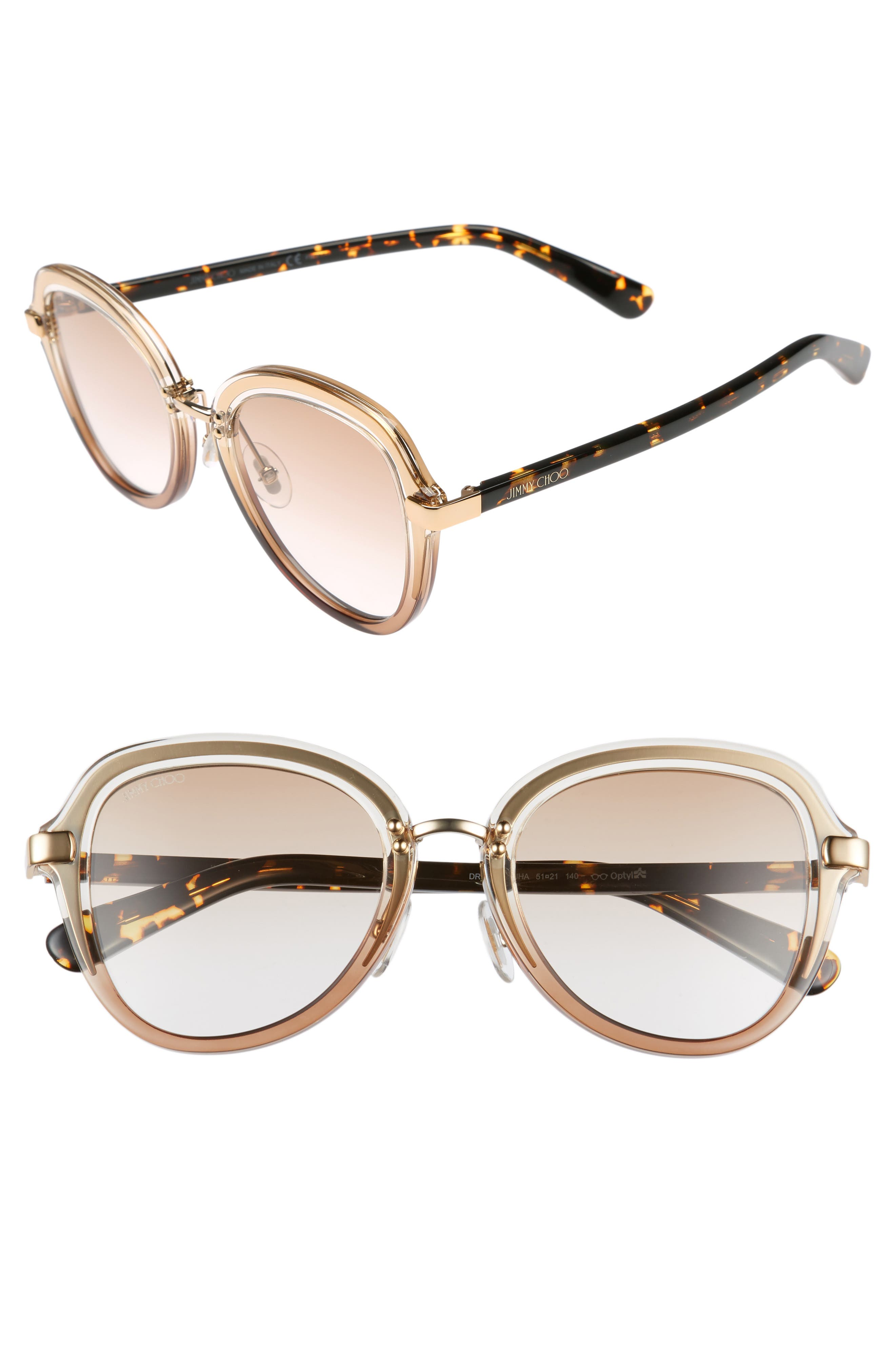 Main Image - Jimmy Choo Drees 51mm Gradient Sunglasses