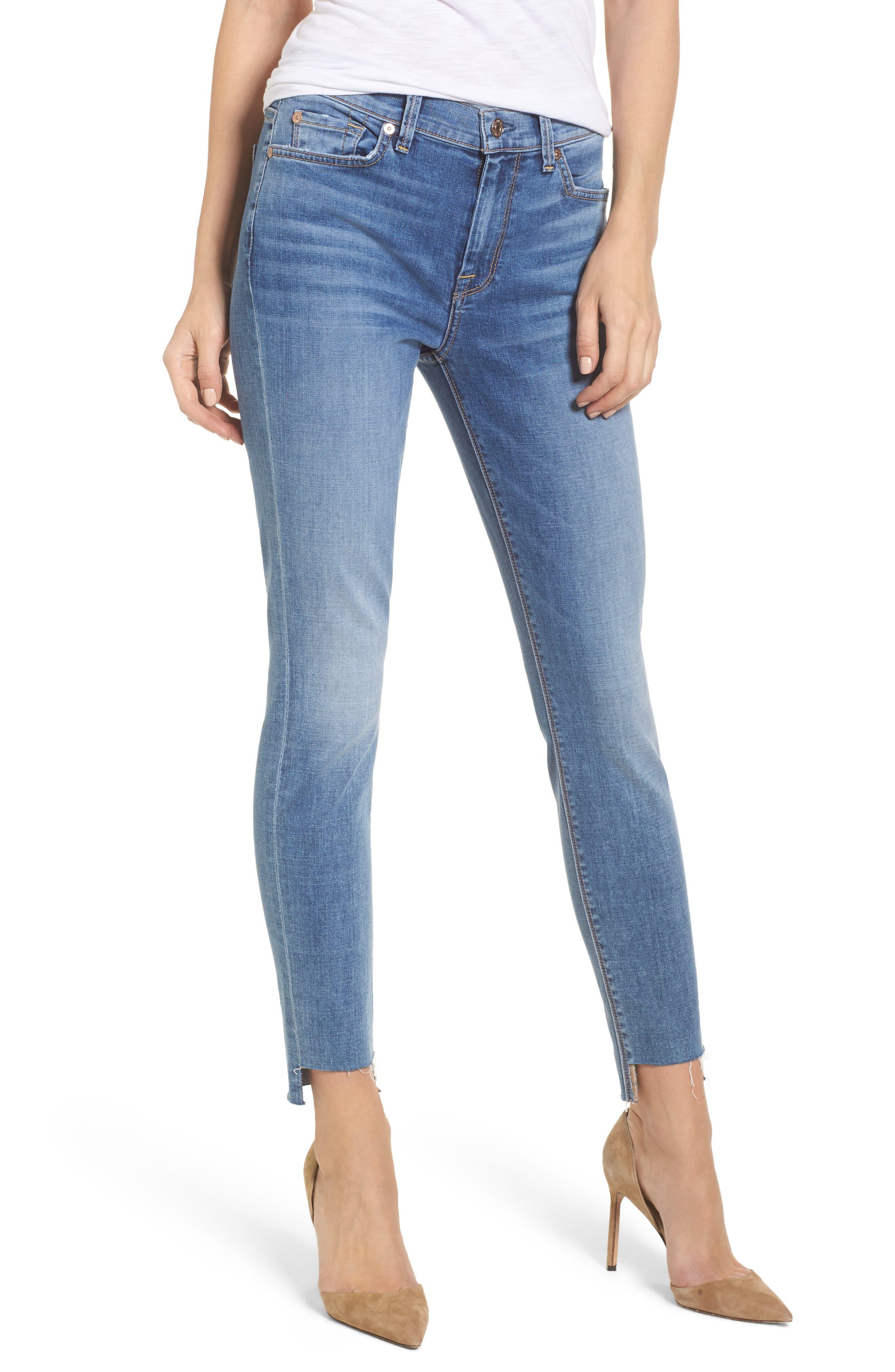 Main Image - 7 For All Mankind® Step Hem Ankle Skinny Jeans (Fillmore)
