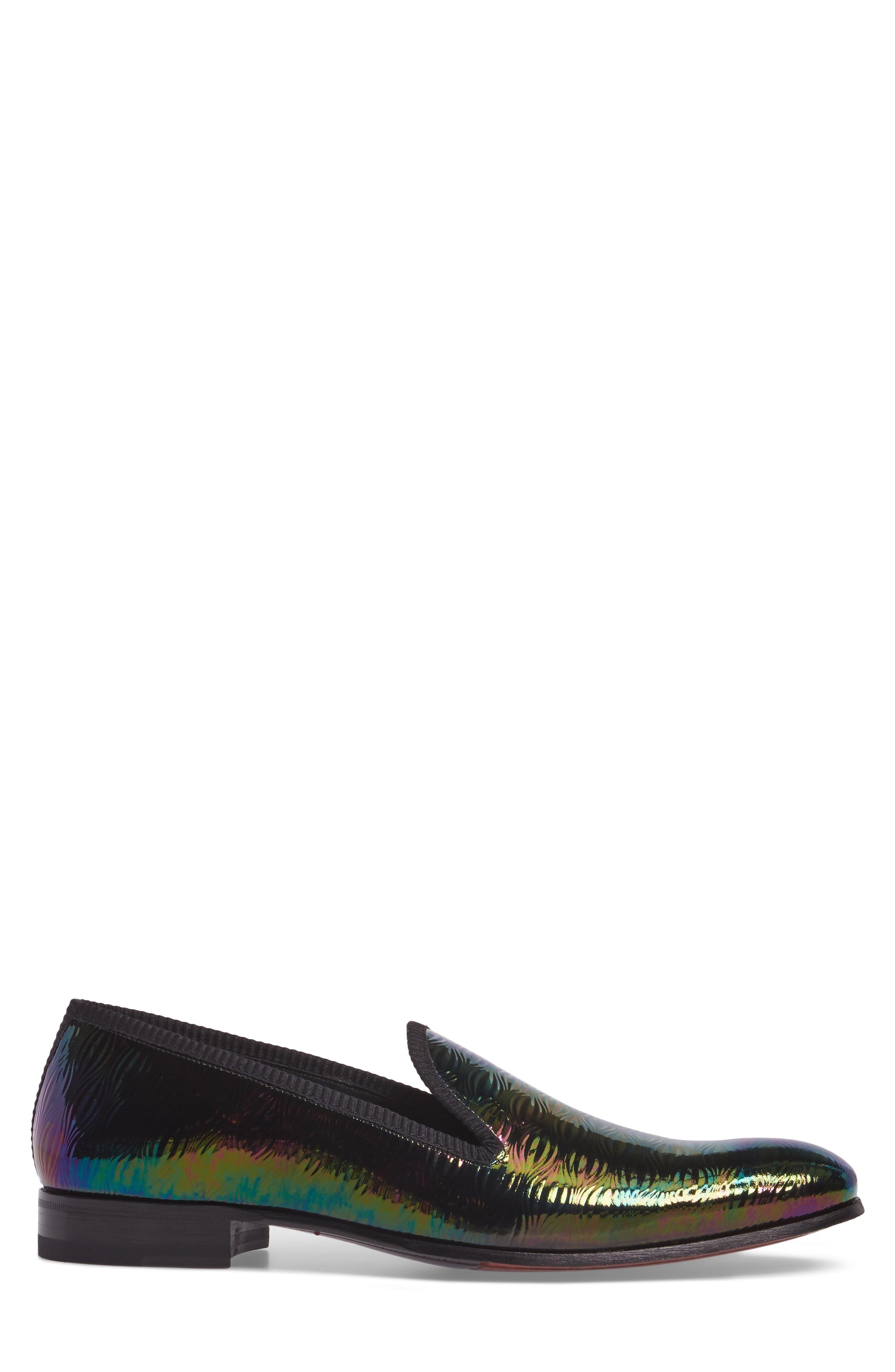 Duque Venetian Loafer,                             Alternate thumbnail 3, color,                             Black Leather