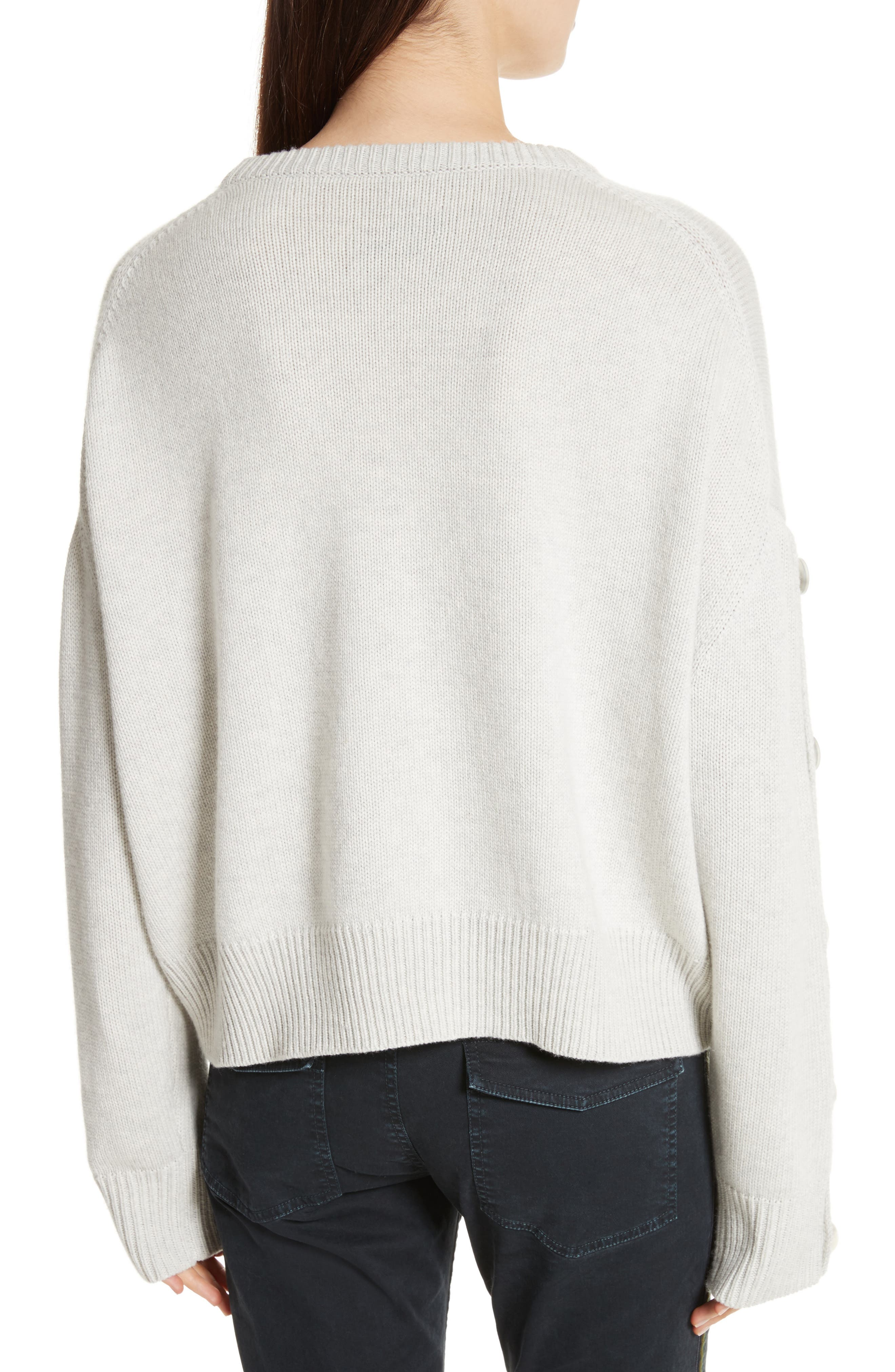 Martina Wool & Cashmere Sweater,                             Alternate thumbnail 2, color,                             Light Grey