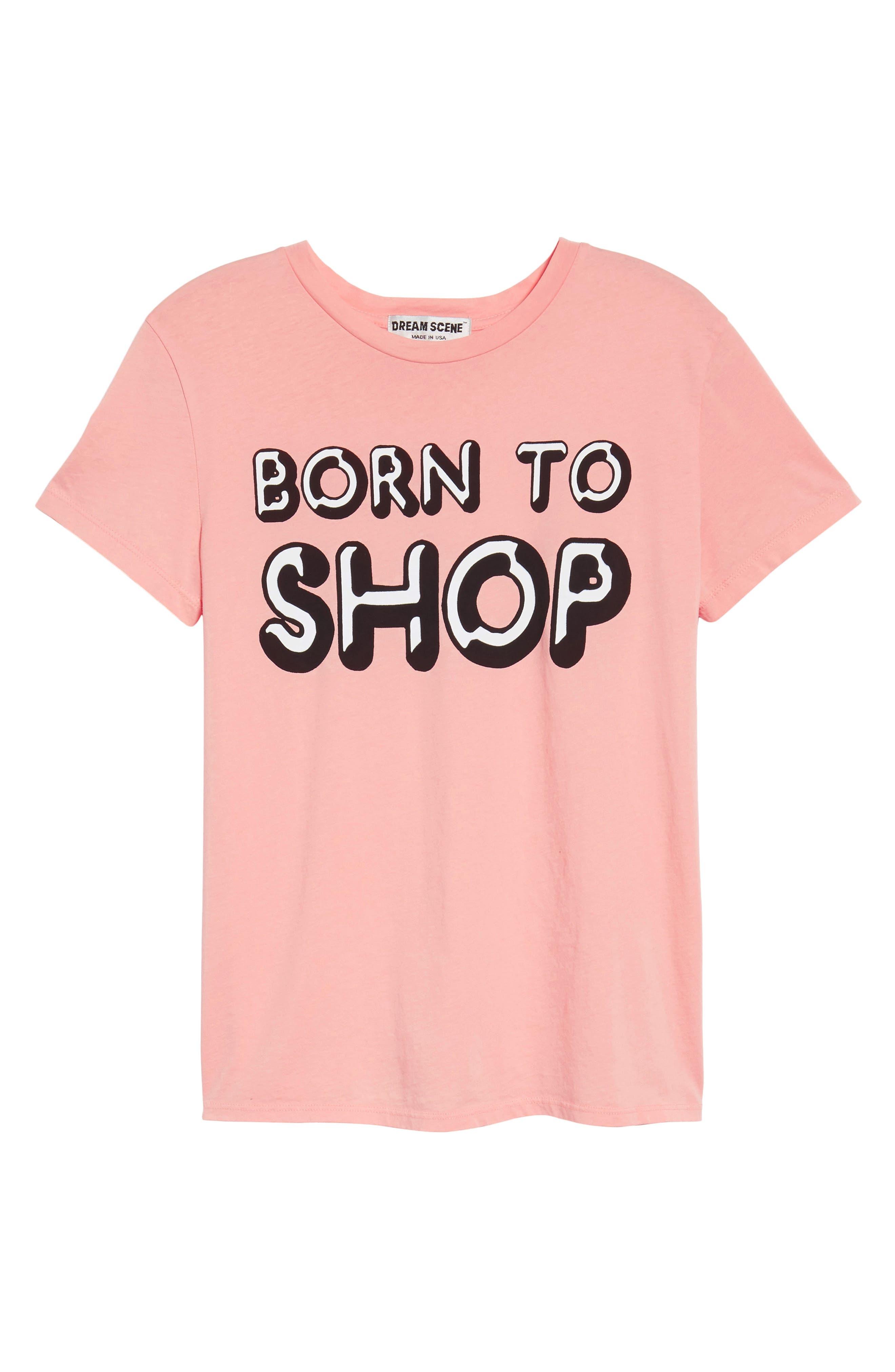 Born to Shop Tee,                             Alternate thumbnail 6, color,                             Peony