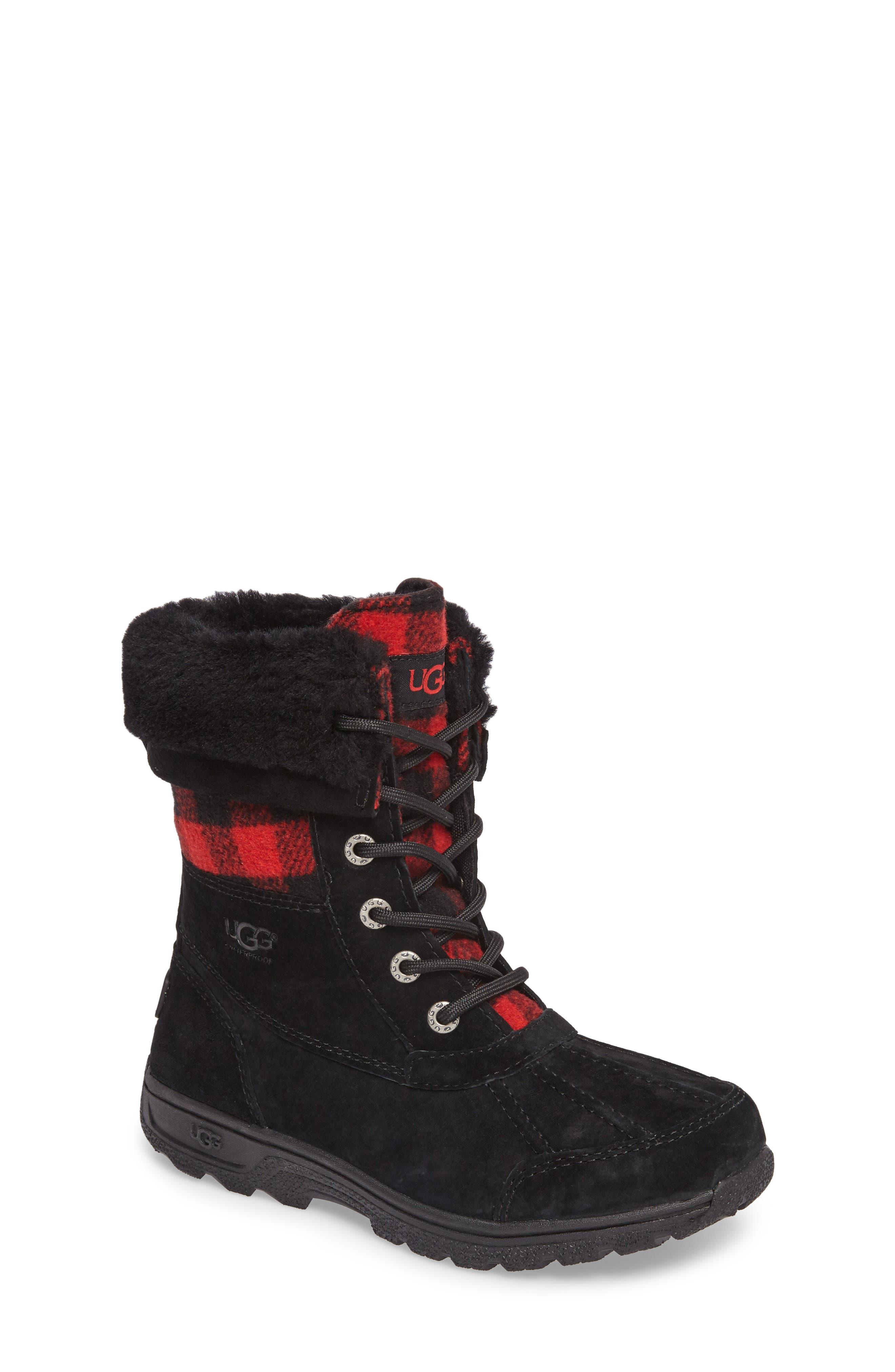 UGG� Butte II Plaid Waterproof Boot (Toddler, Little Kid \u0026 Big ...