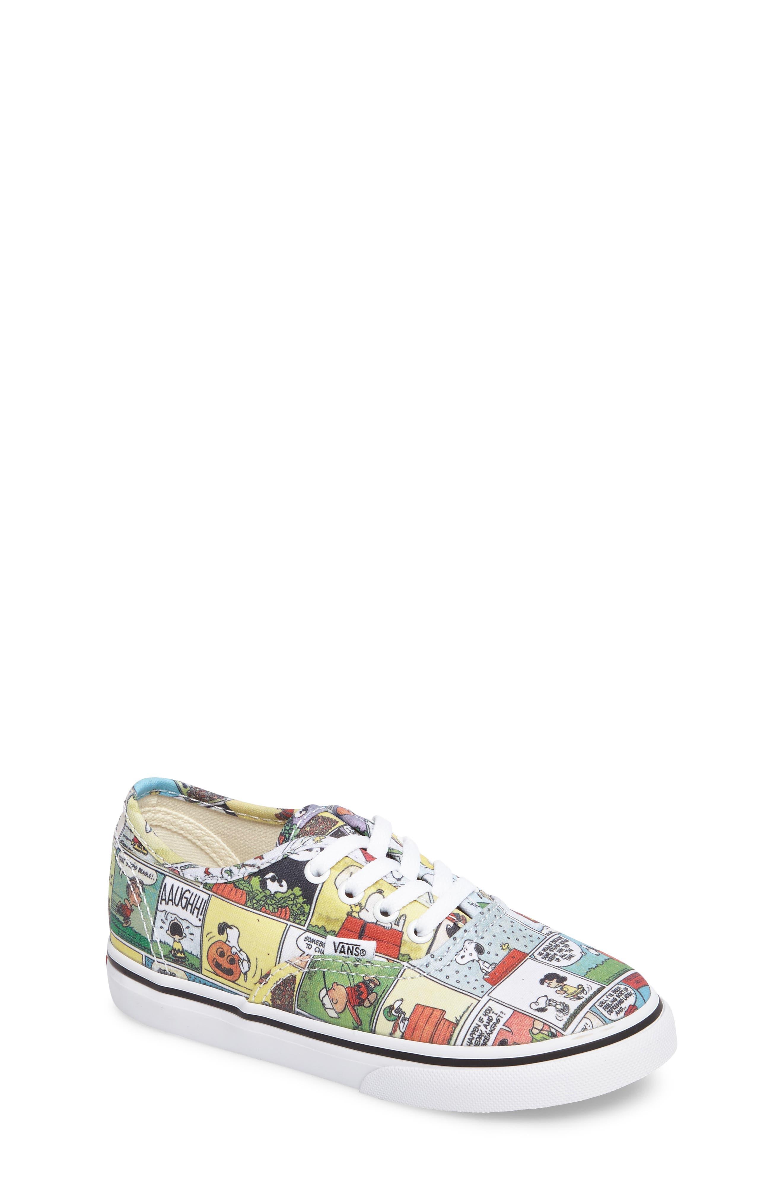 Alternate Image 1 Selected - Vans x Peanuts Authentic Low Top Sneaker (Baby, Walker, Toddler, Little Kid & Big Kid)