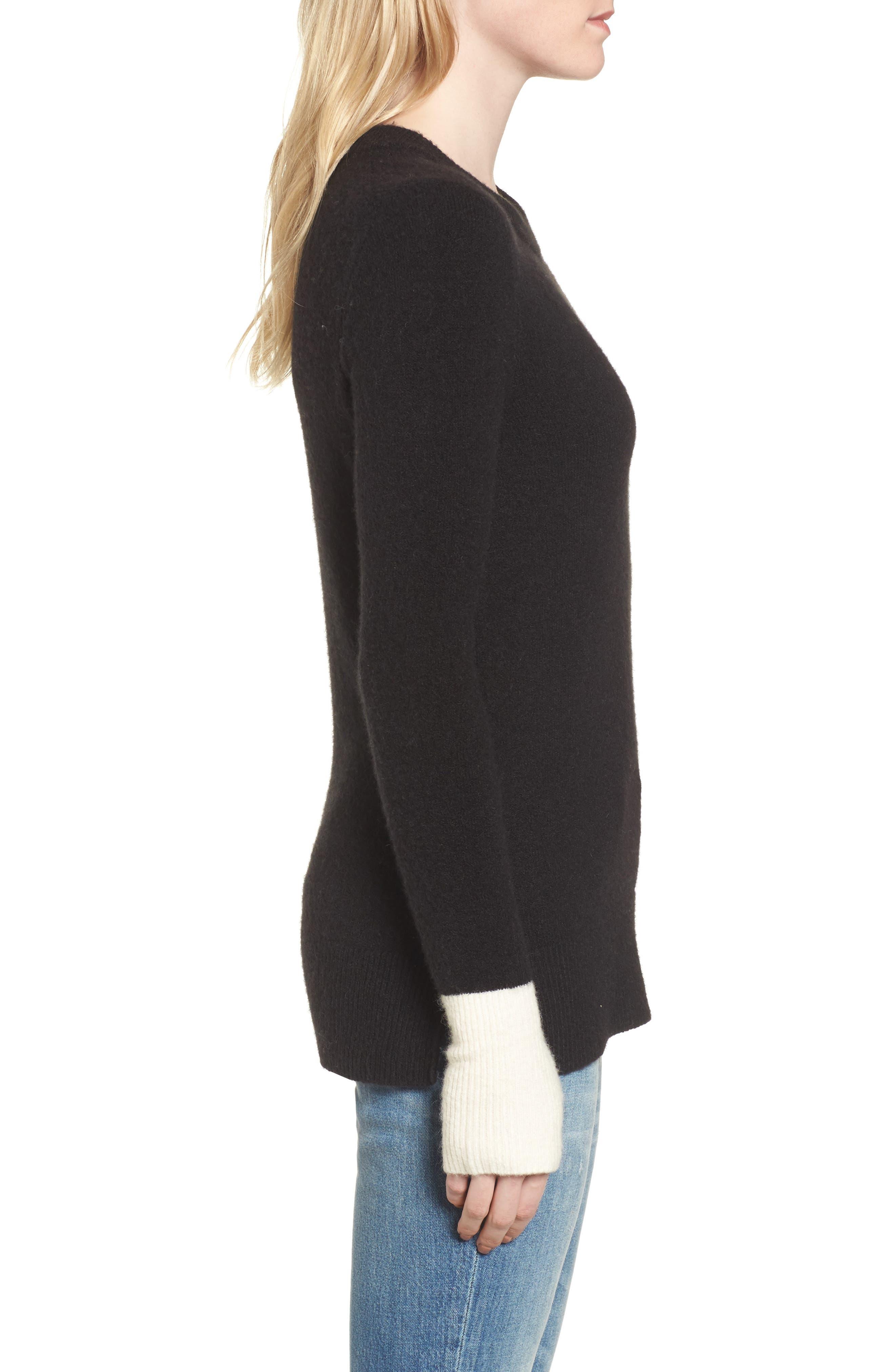Fremont Colorblock Pullover Sweater,                             Alternate thumbnail 4, color,                             True Black