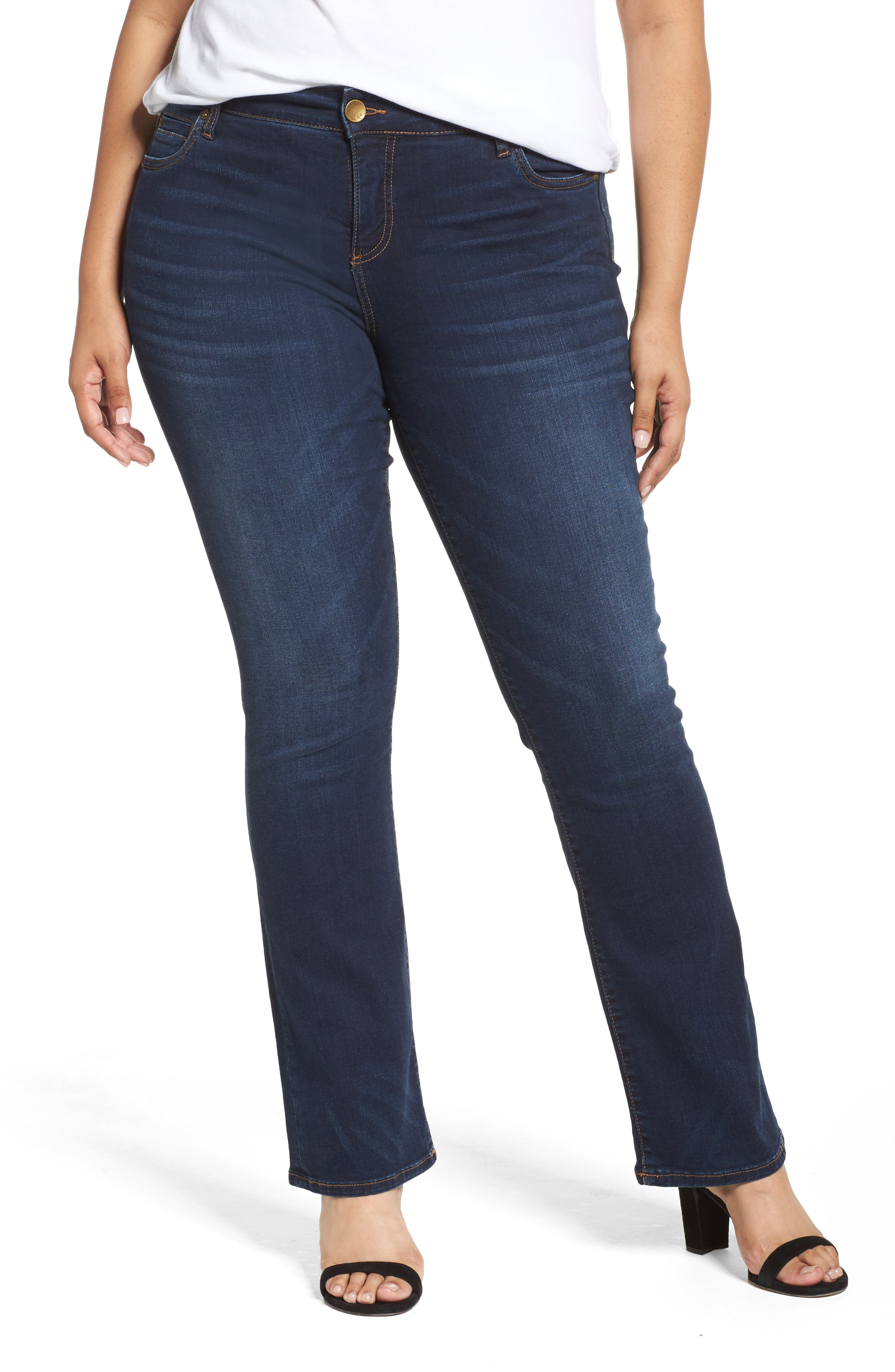 Main Image - KUT from the Kloth Natalie High Waist Bootcut Jeans (Closeness) (Plus Size)