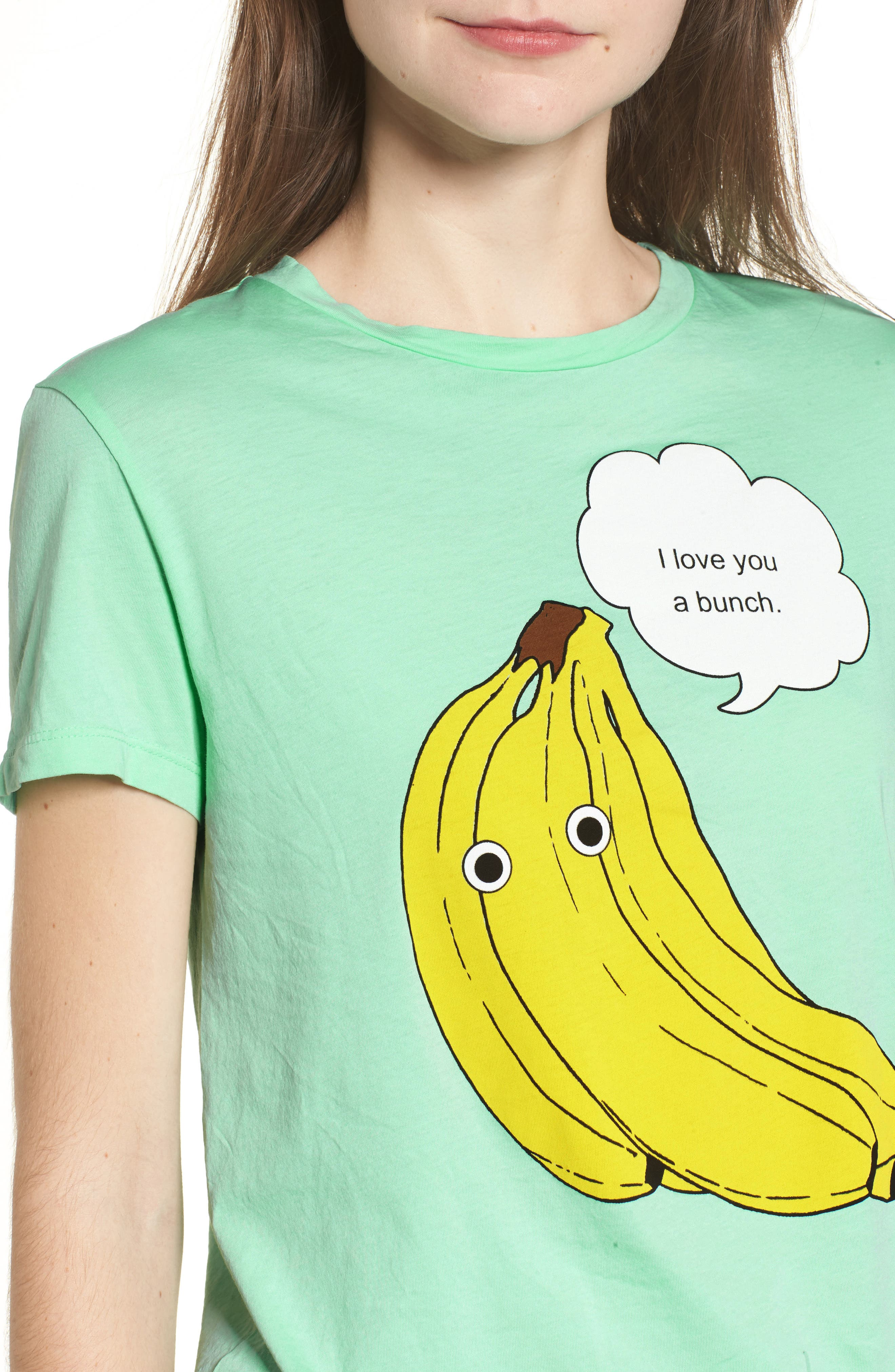I Love You a Bunch Tee,                             Alternate thumbnail 4, color,                             Mint Julep