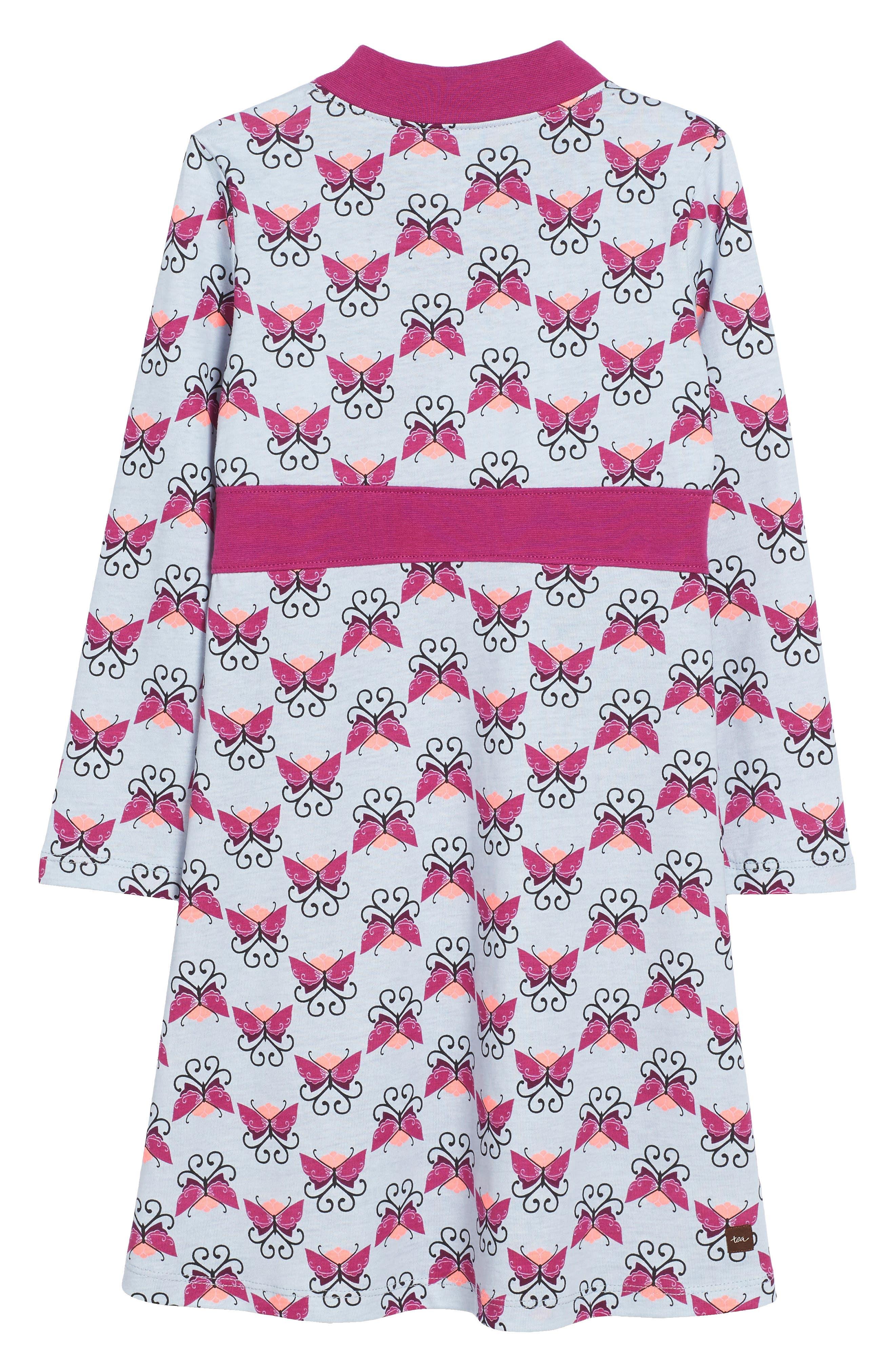 Beitiris Print Wrap Neck Dress,                             Alternate thumbnail 3, color,                             Horizon