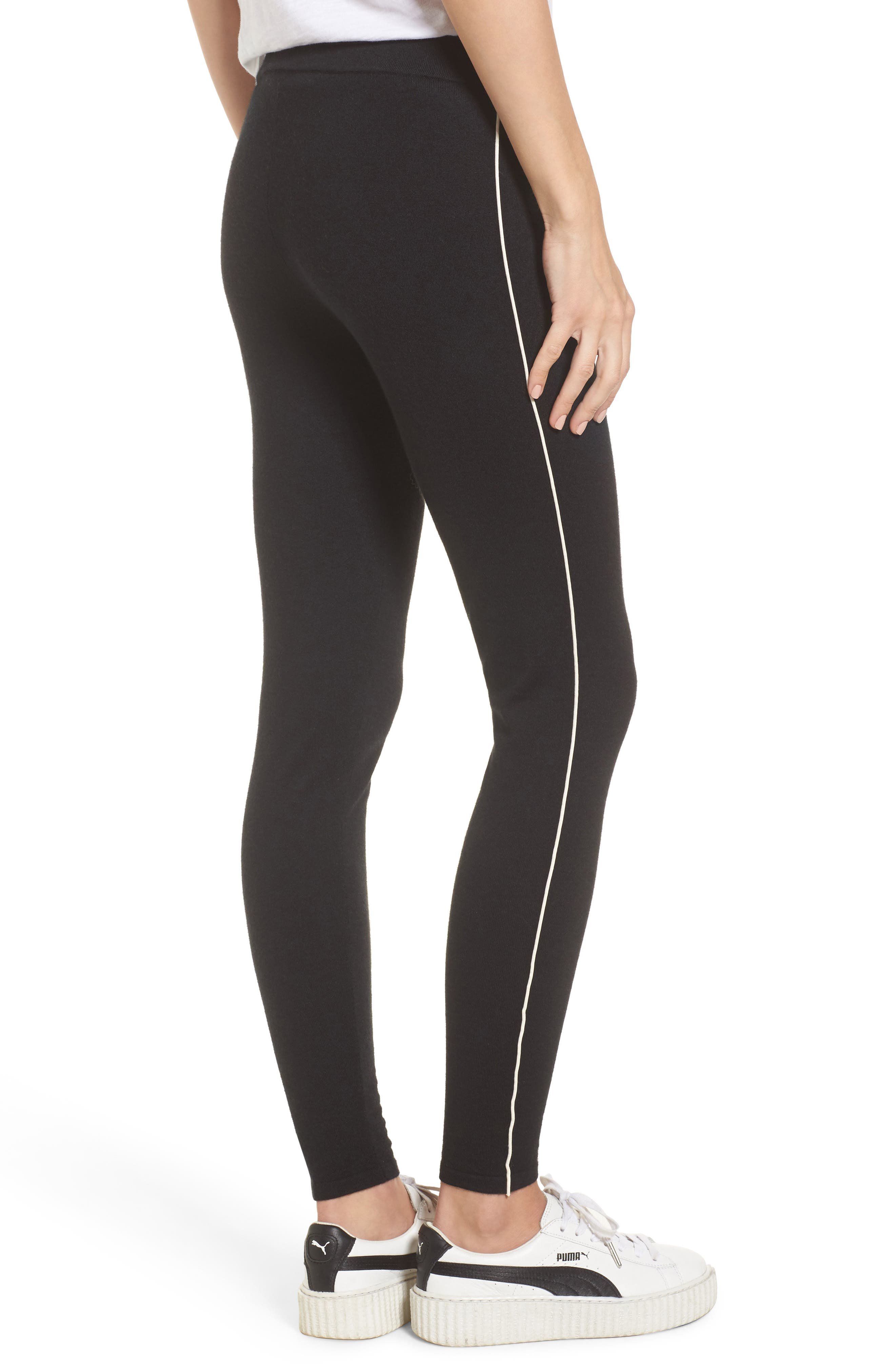 Alternate Image 2  - James Perse Stretch Cashmere Leggings