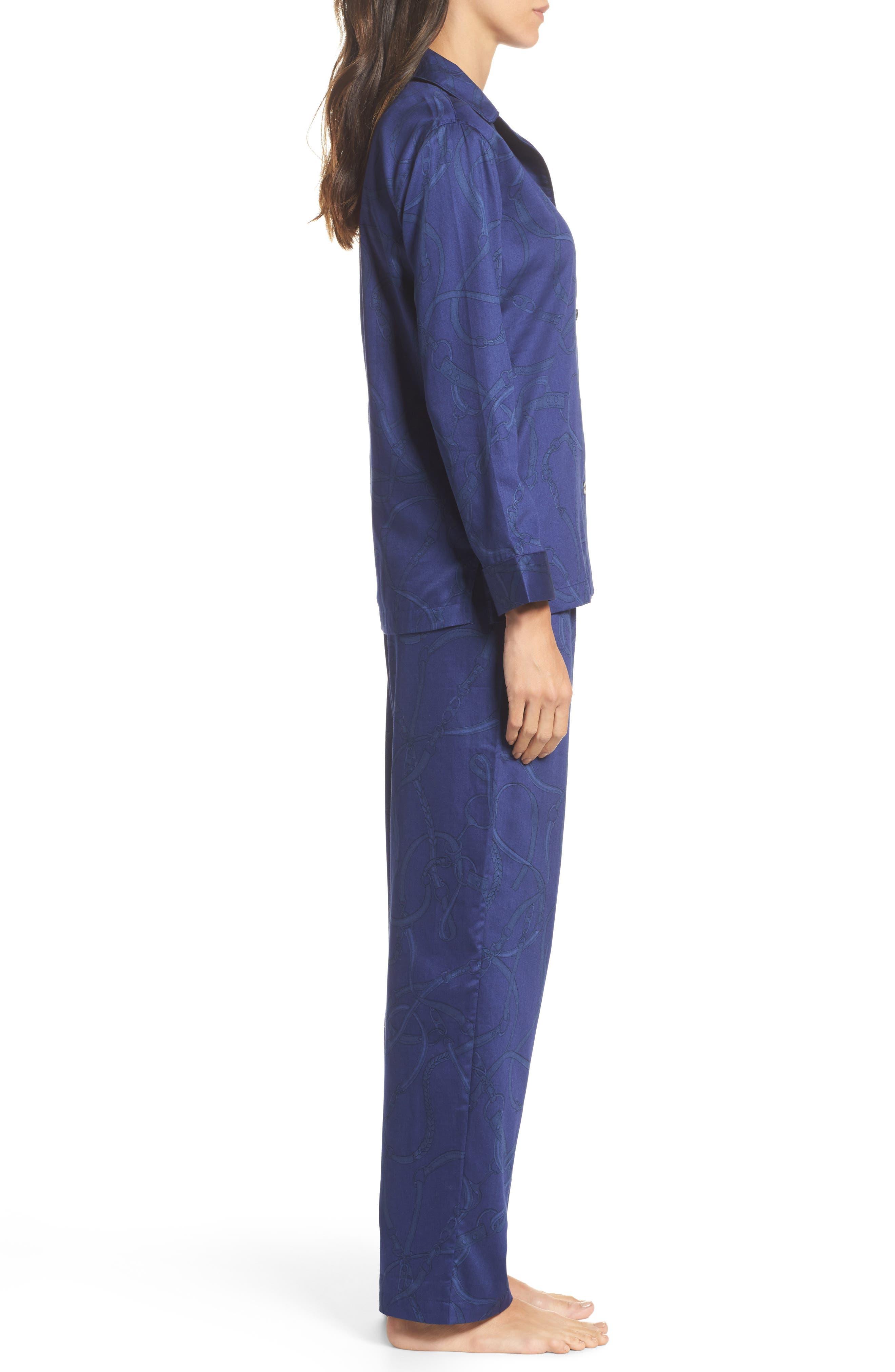 Alternate Image 3  - Lauren Ralph Lauren Cotton Pajamas