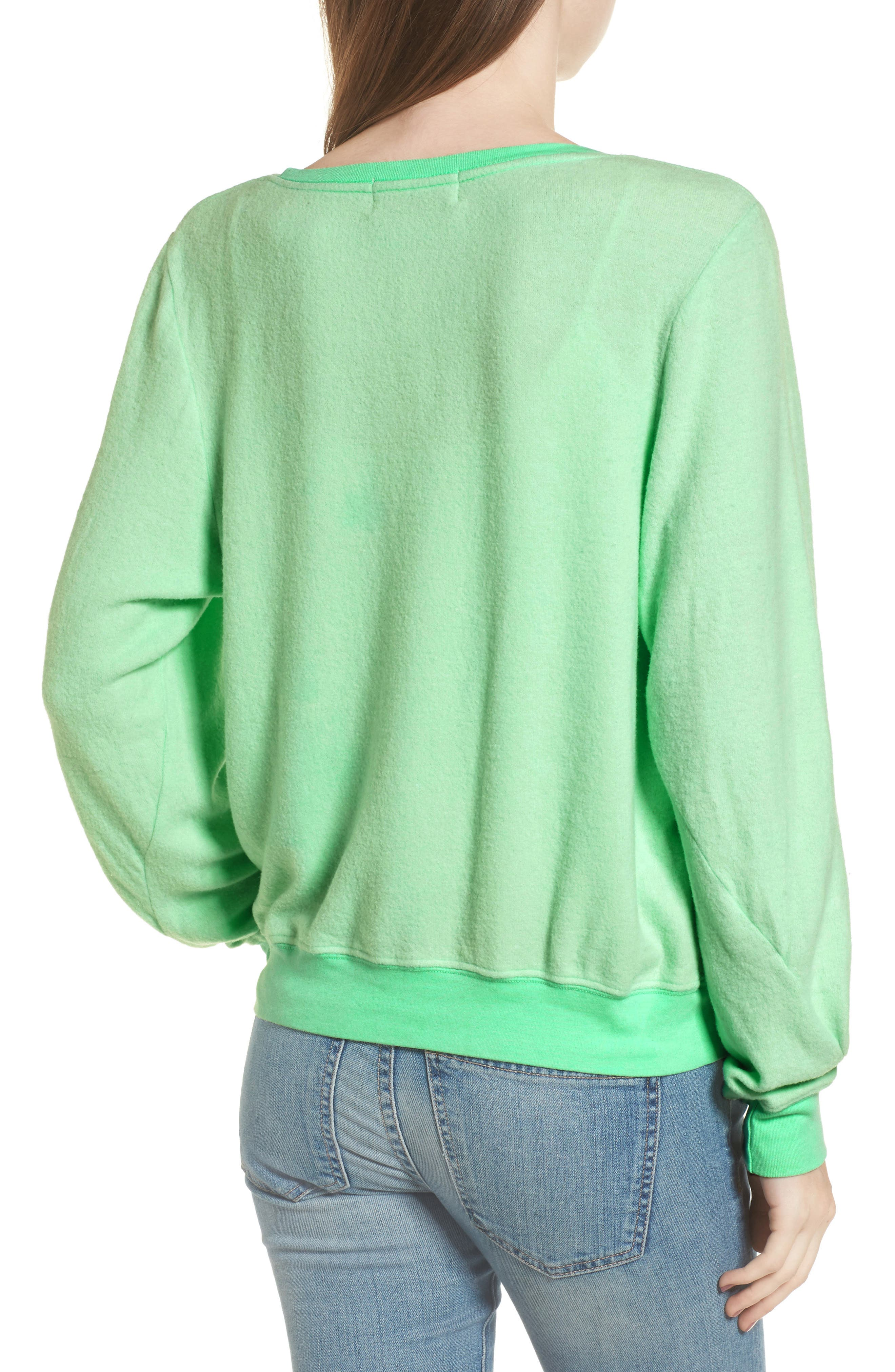 California Dreamin Sweatshirt,                             Alternate thumbnail 2, color,                             Mint Julep