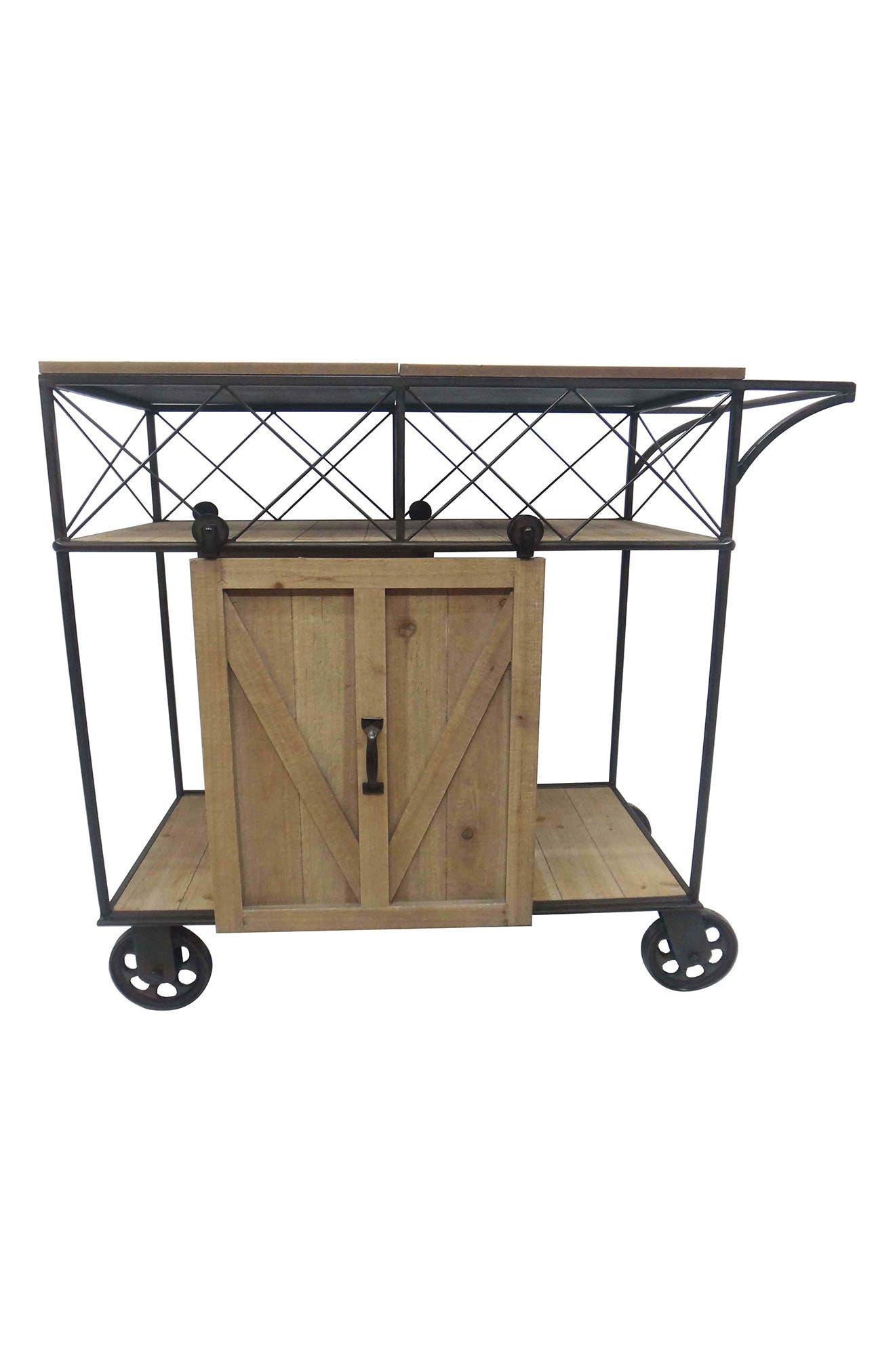 crystal art gallery bar cart