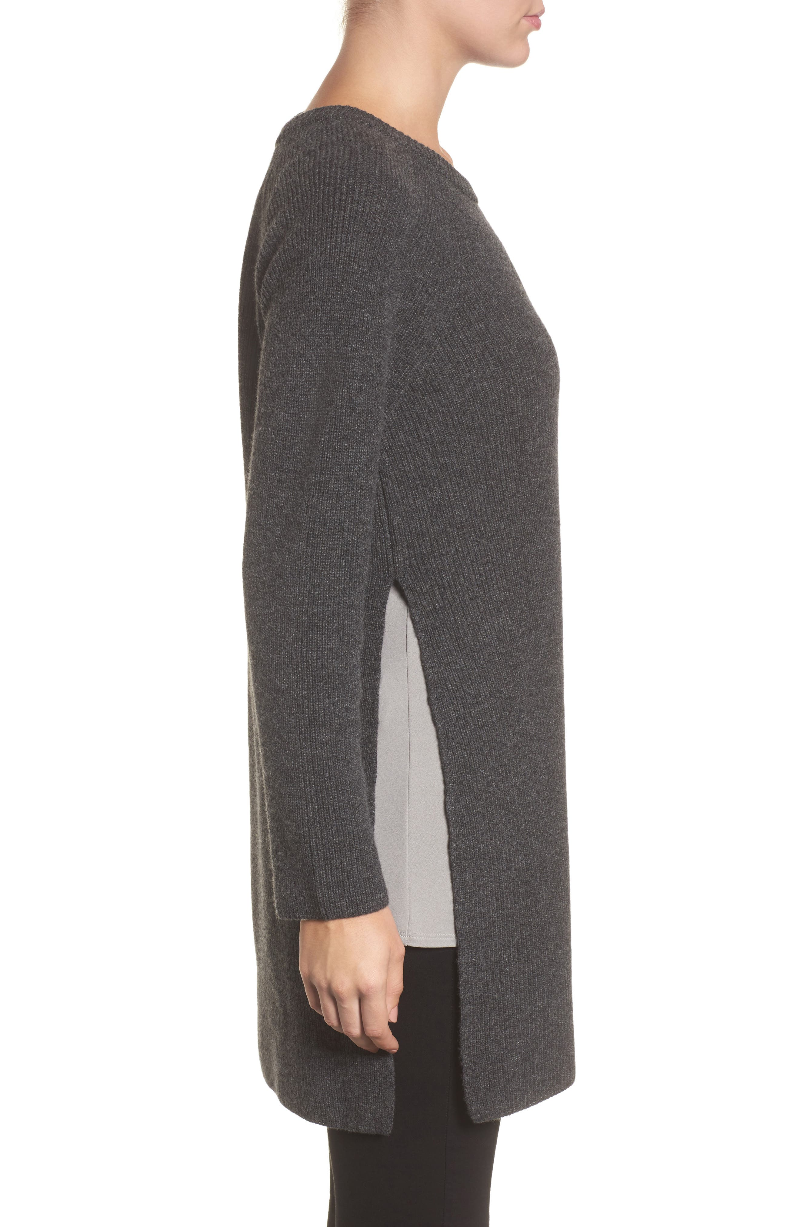 Alternate Image 3  - Eileen Fisher Cashmere Tunic Sweater