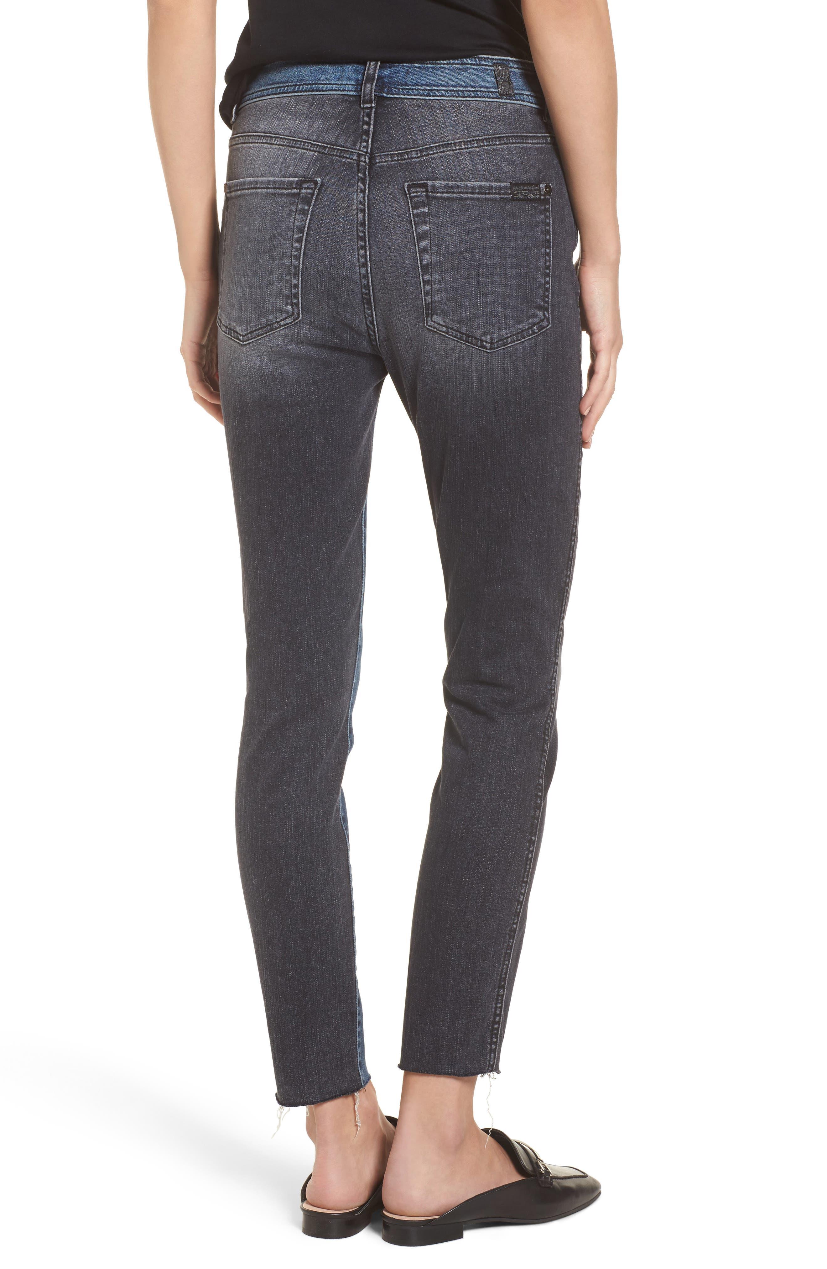 The Ankle Skinny Jeans,                             Alternate thumbnail 2, color,                             Indigo Sulphur