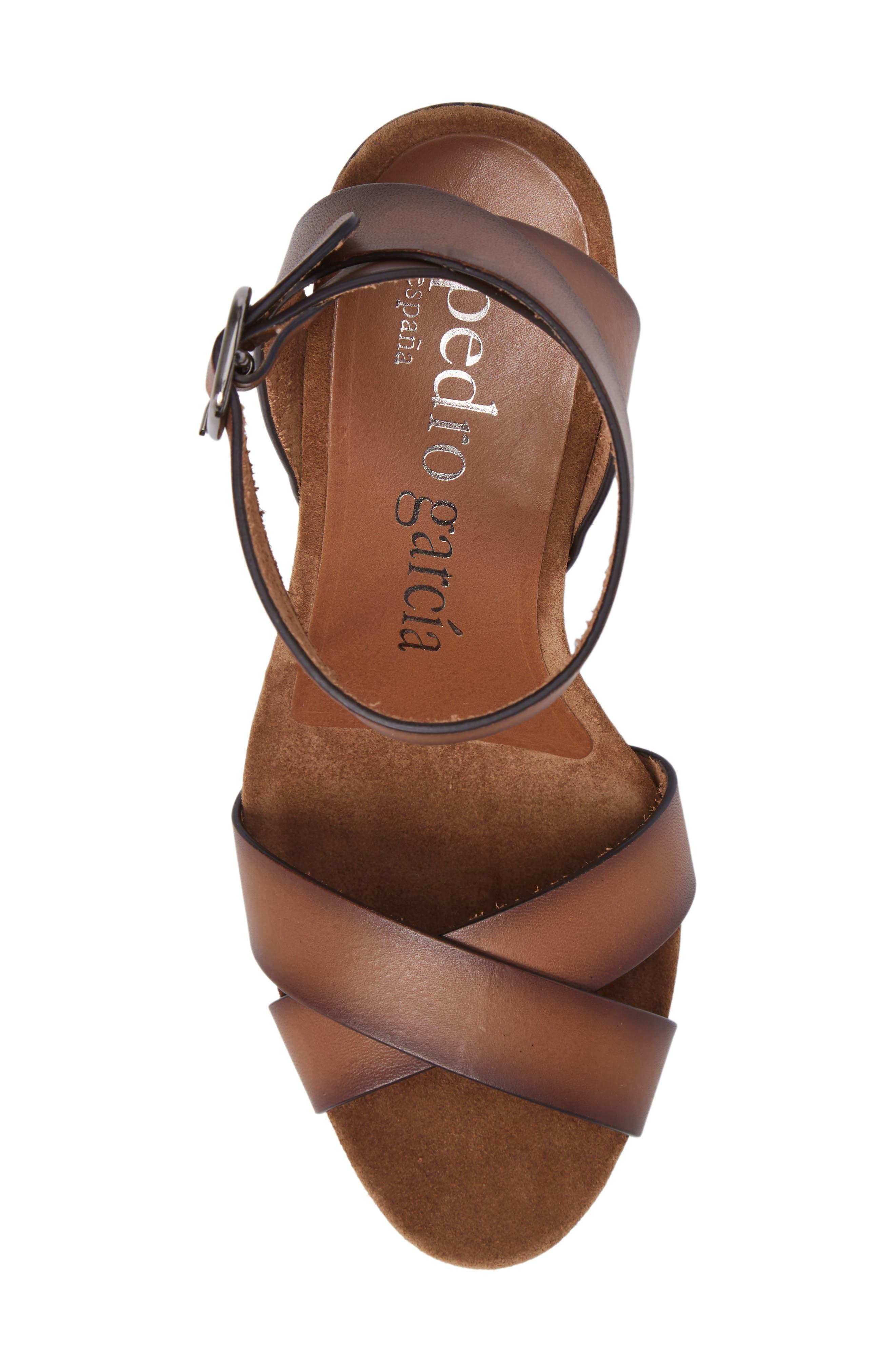 Yemba Embellished Heel Sandal,                             Alternate thumbnail 5, color,                             Cigar Vacchetta
