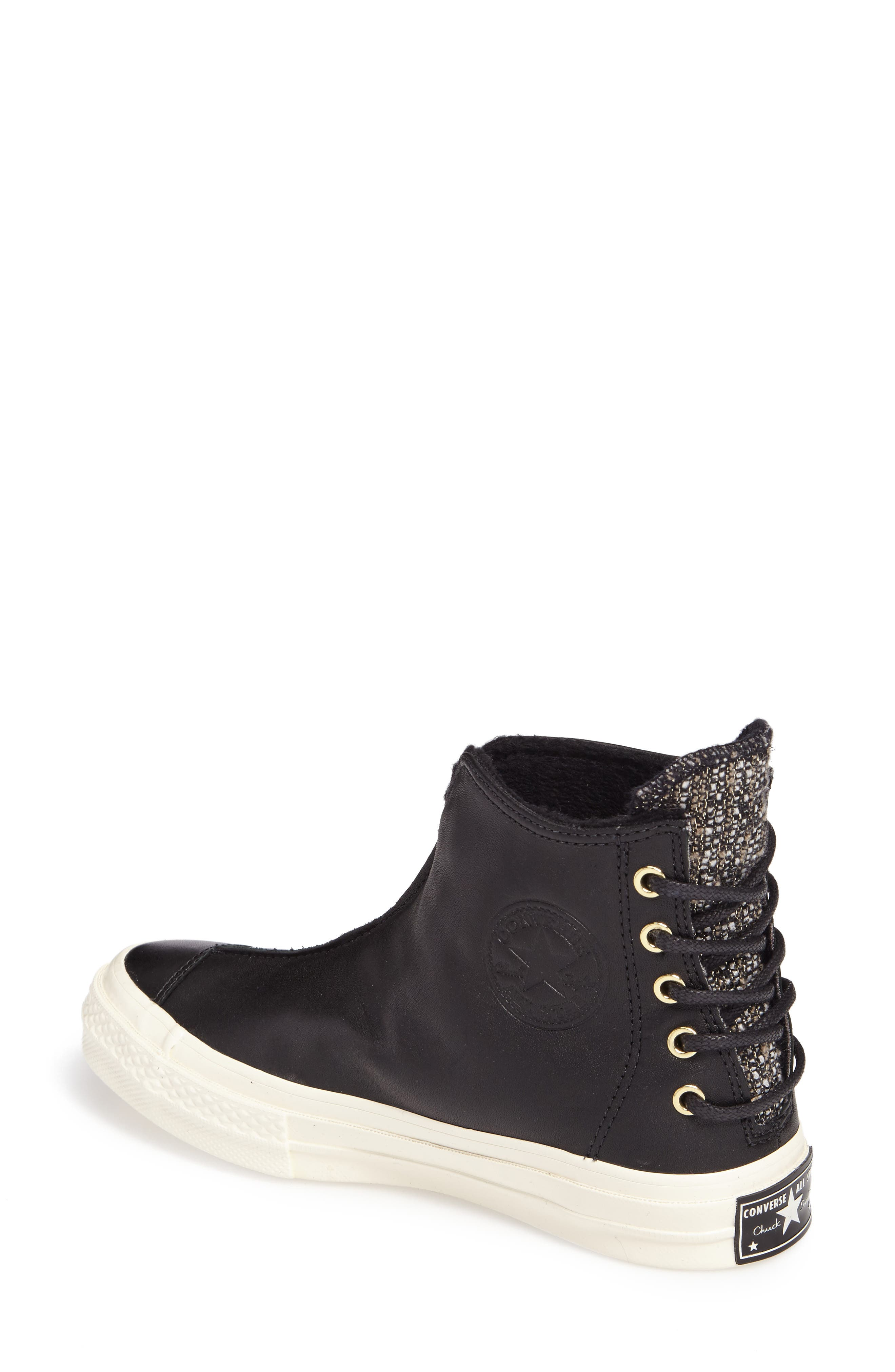 Chuck Taylor<sup>®</sup> All Star<sup>®</sup> Chuck 70 Punk Sneaker Boot,                             Alternate thumbnail 2, color,                             Black Leather