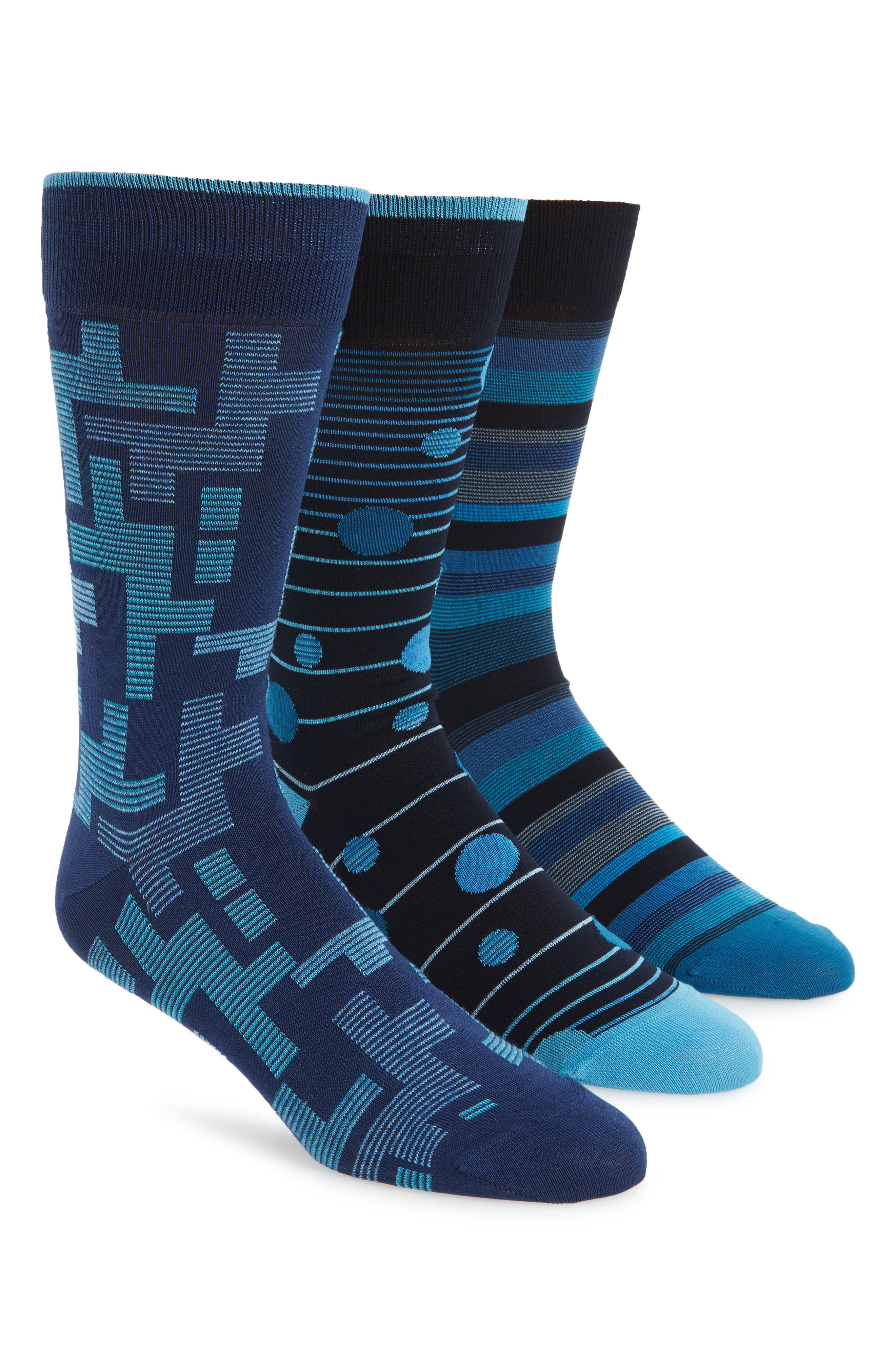 Alternate Image 1 Selected - Bugatchi 3-Pack Mixed Pattern Socks ($59.85 Value)