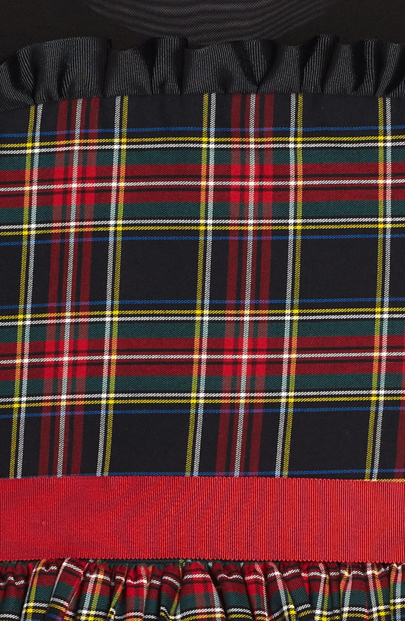Winter Tartan Party Dress,                             Alternate thumbnail 3, color,                             Red Plaid