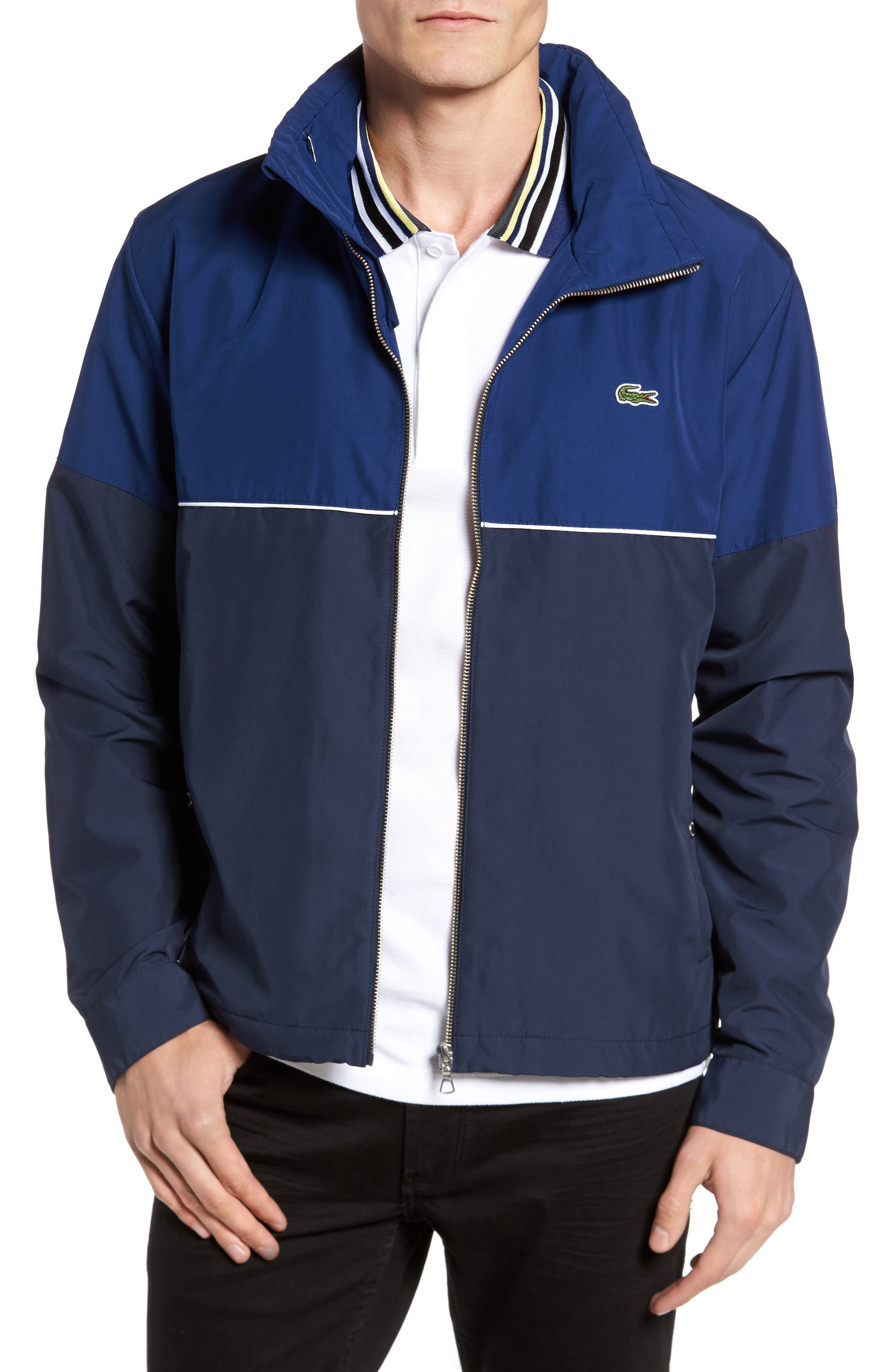 Alternate Image 1 Selected - Lacoste Water Resistant Hooded Parka