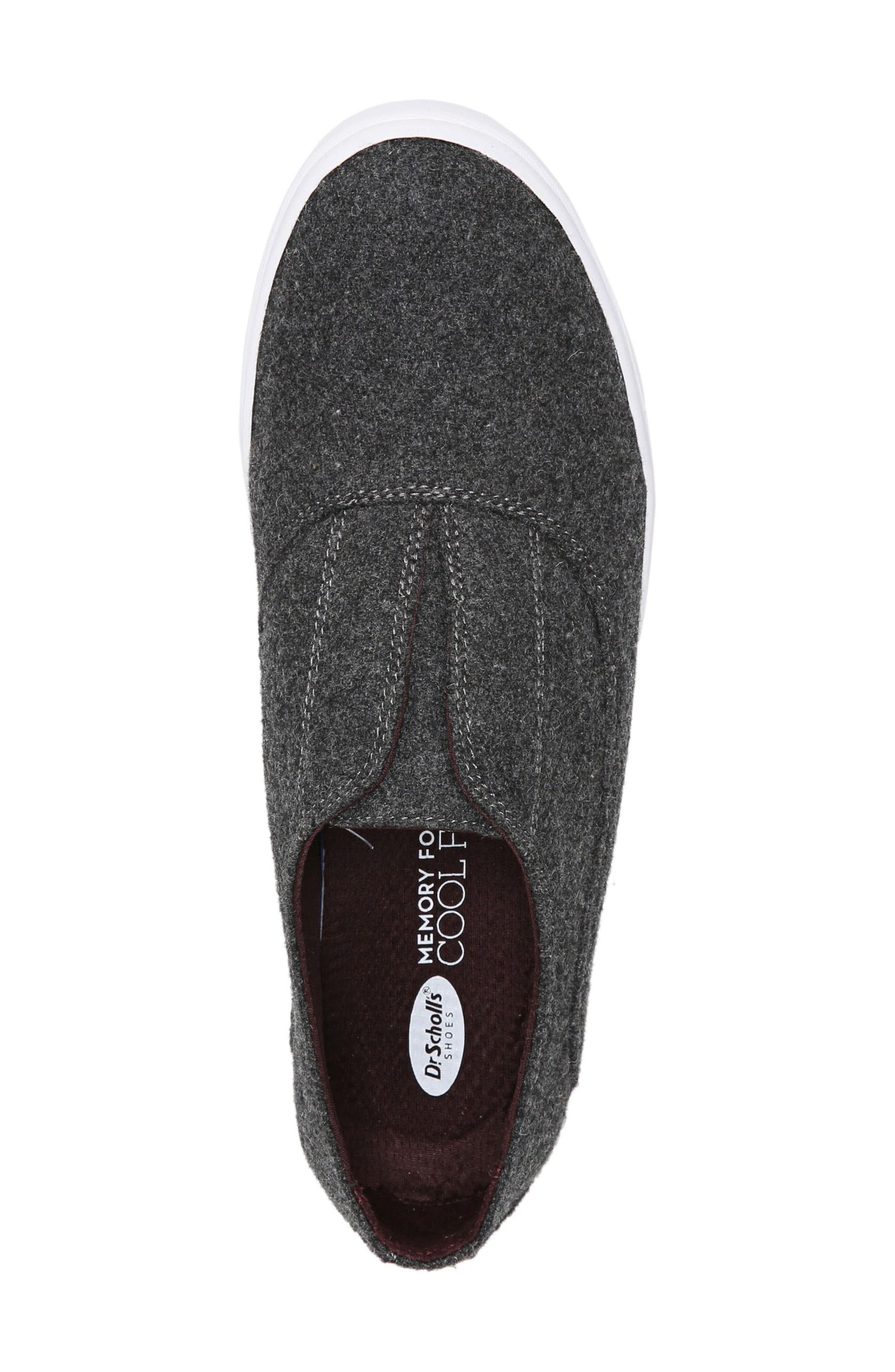 Brey Slip-On Sneaker,                             Alternate thumbnail 5, color,                             Charcoal Fabric
