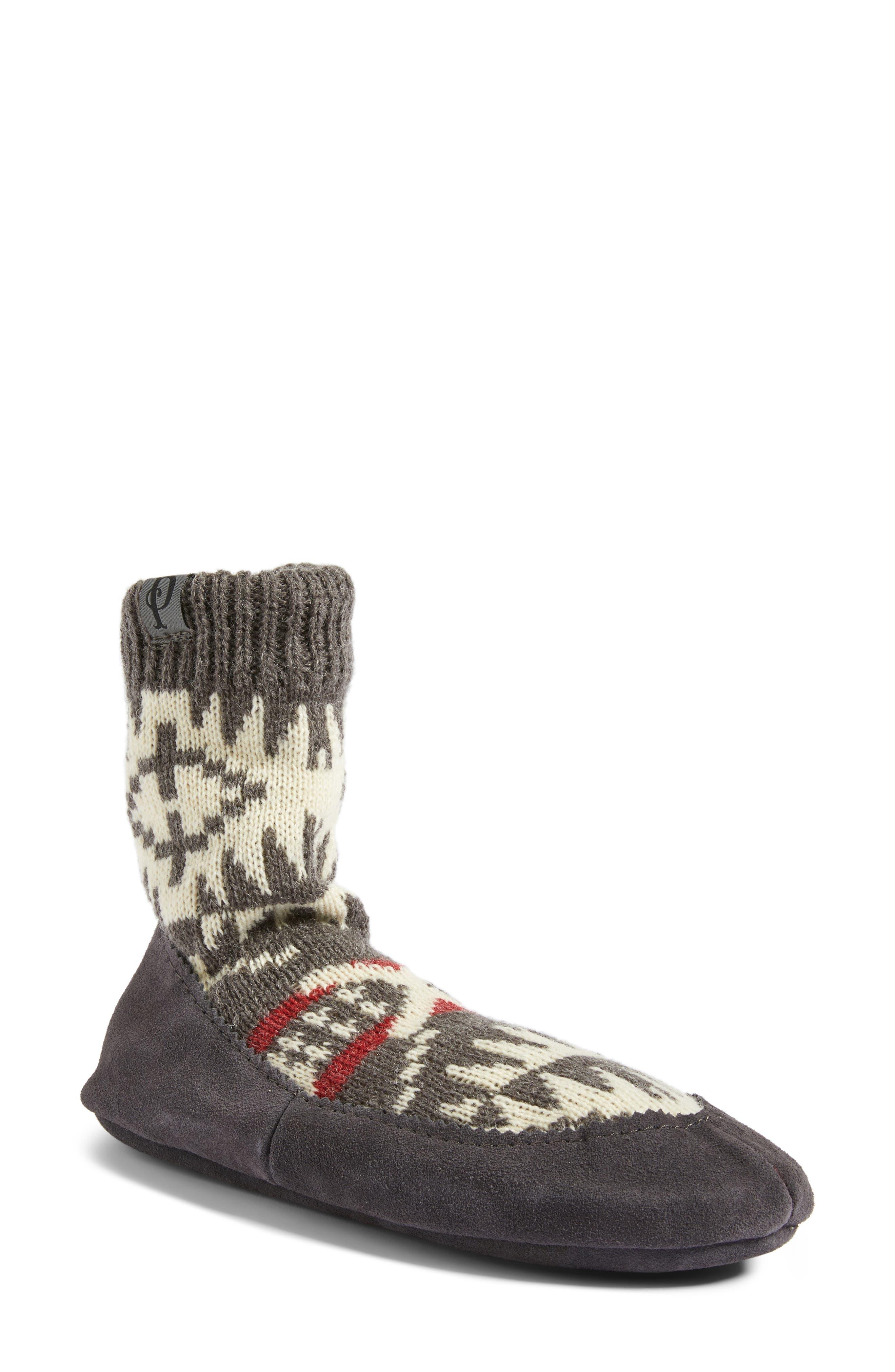 Alternate Image 1 Selected - Pendleton Spider Rock Homestead Slipper Socks