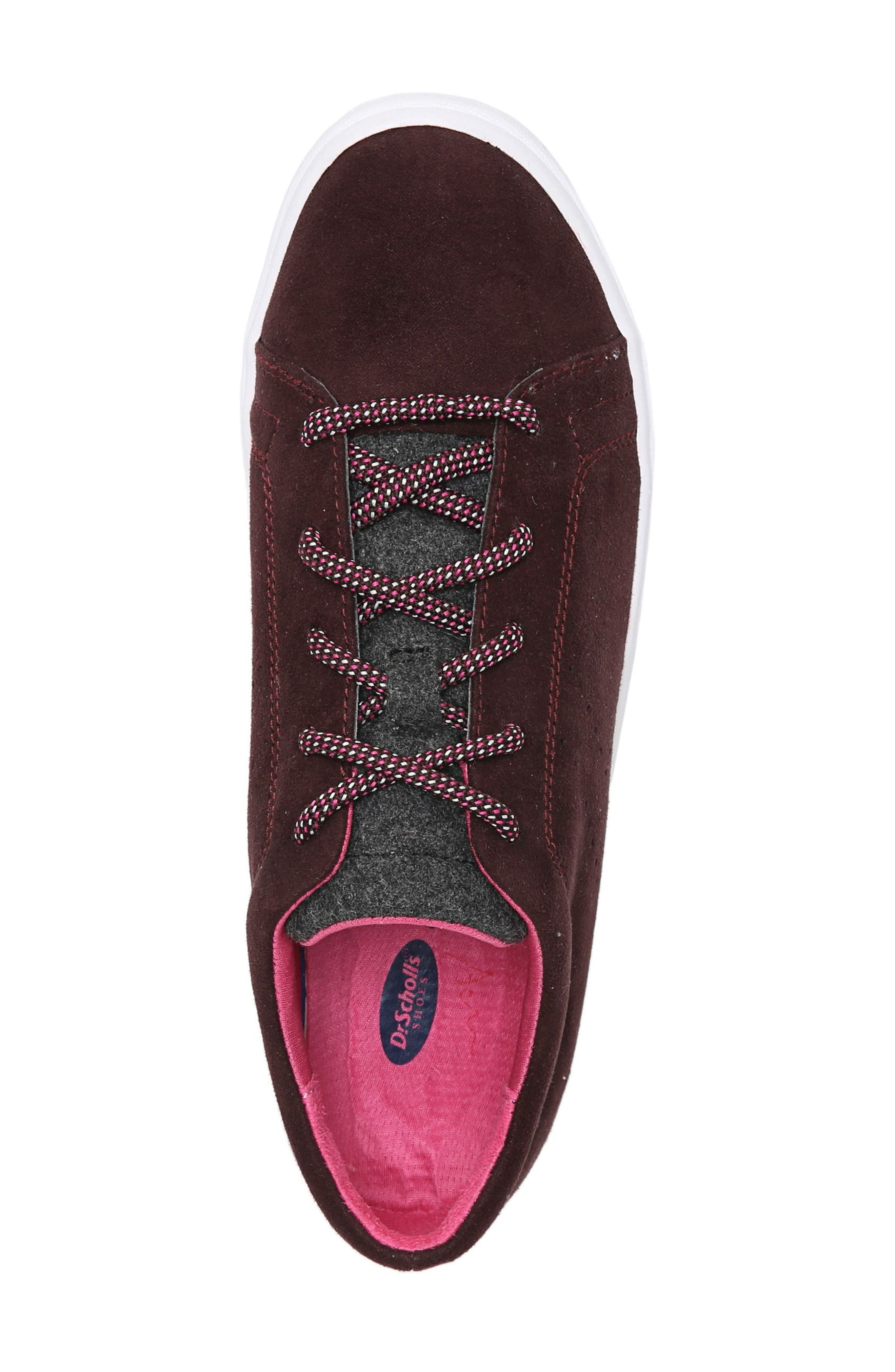 Wander Sneaker,                             Alternate thumbnail 5, color,                             Merlot Fabric