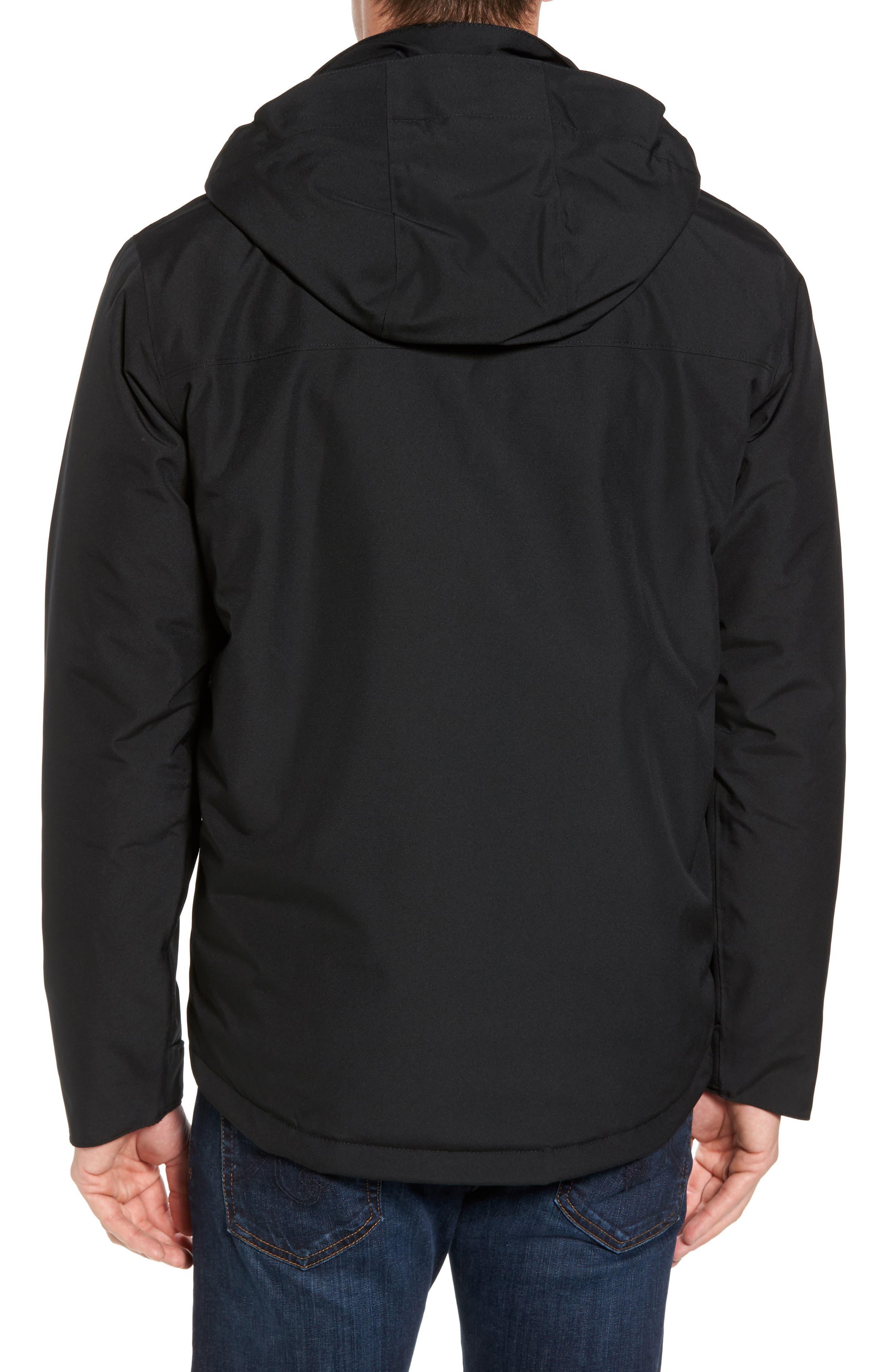 Topley Waterproof Down Jacket,                             Alternate thumbnail 2, color,                             Black