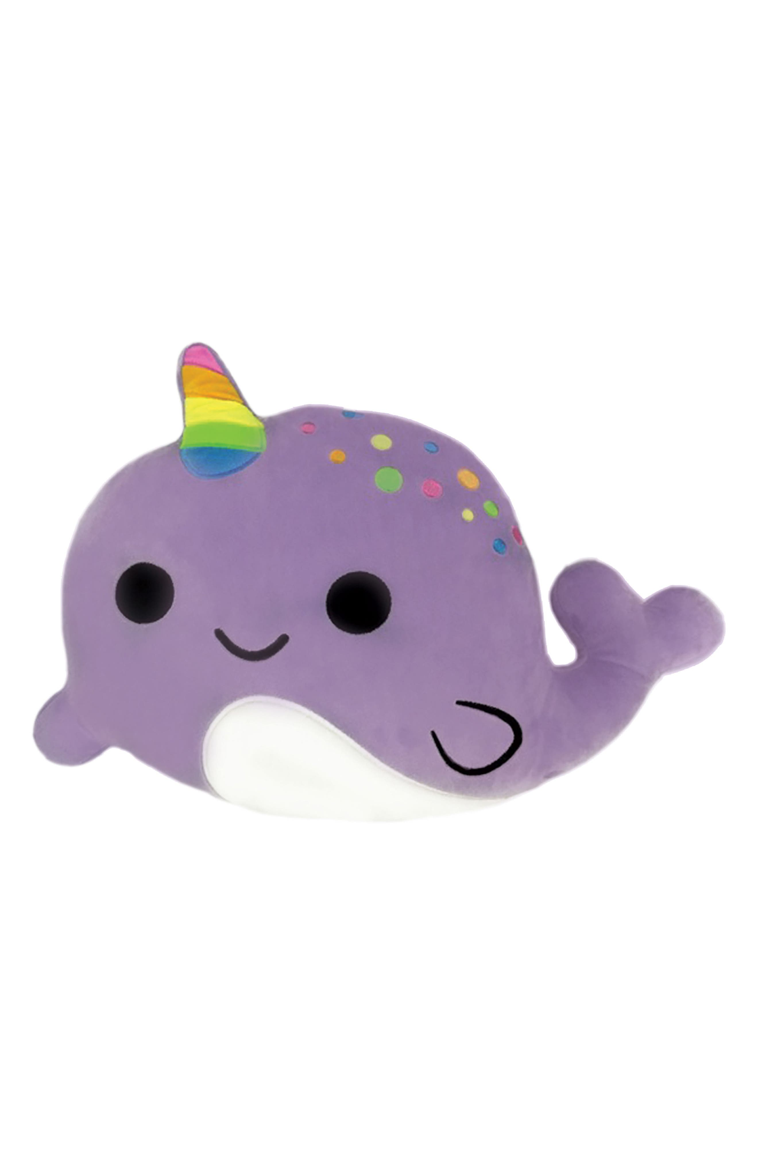 Scented Narwhal Pillow,                             Main thumbnail 1, color,                             Purple