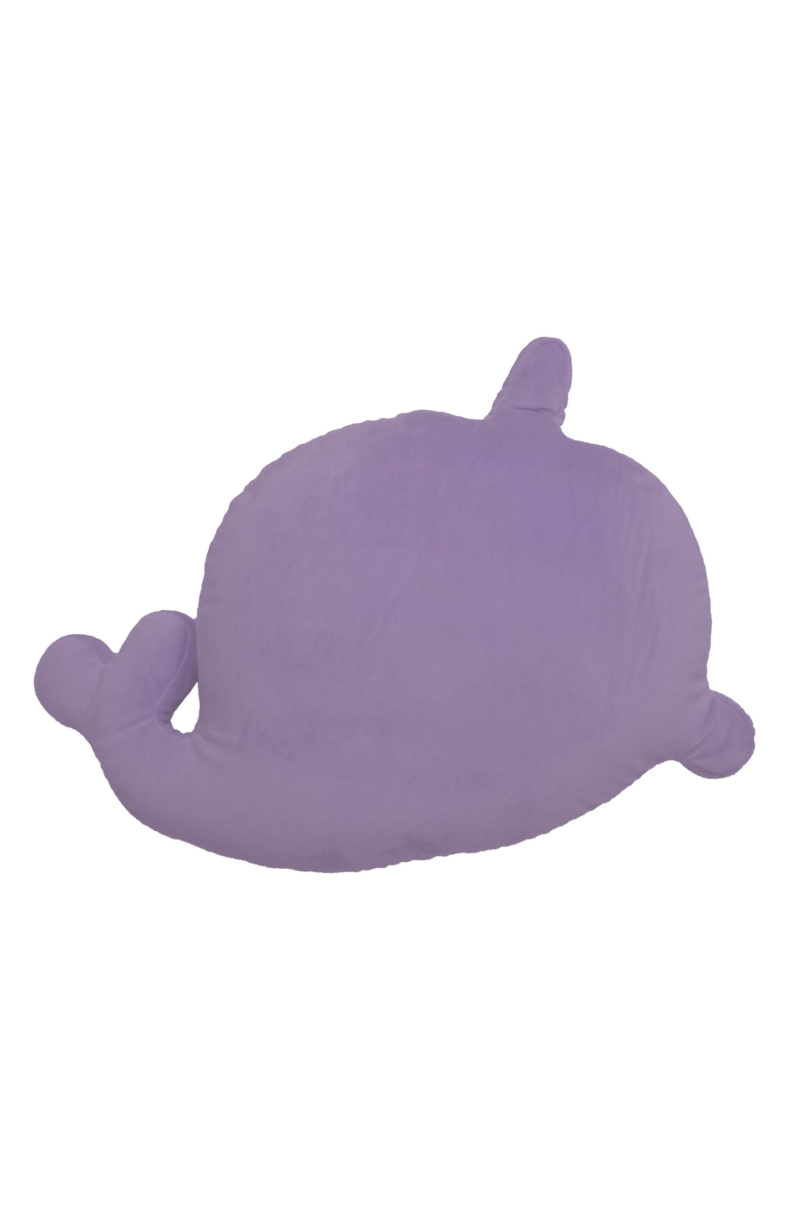 Scented Narwhal Pillow,                             Alternate thumbnail 2, color,                             Purple