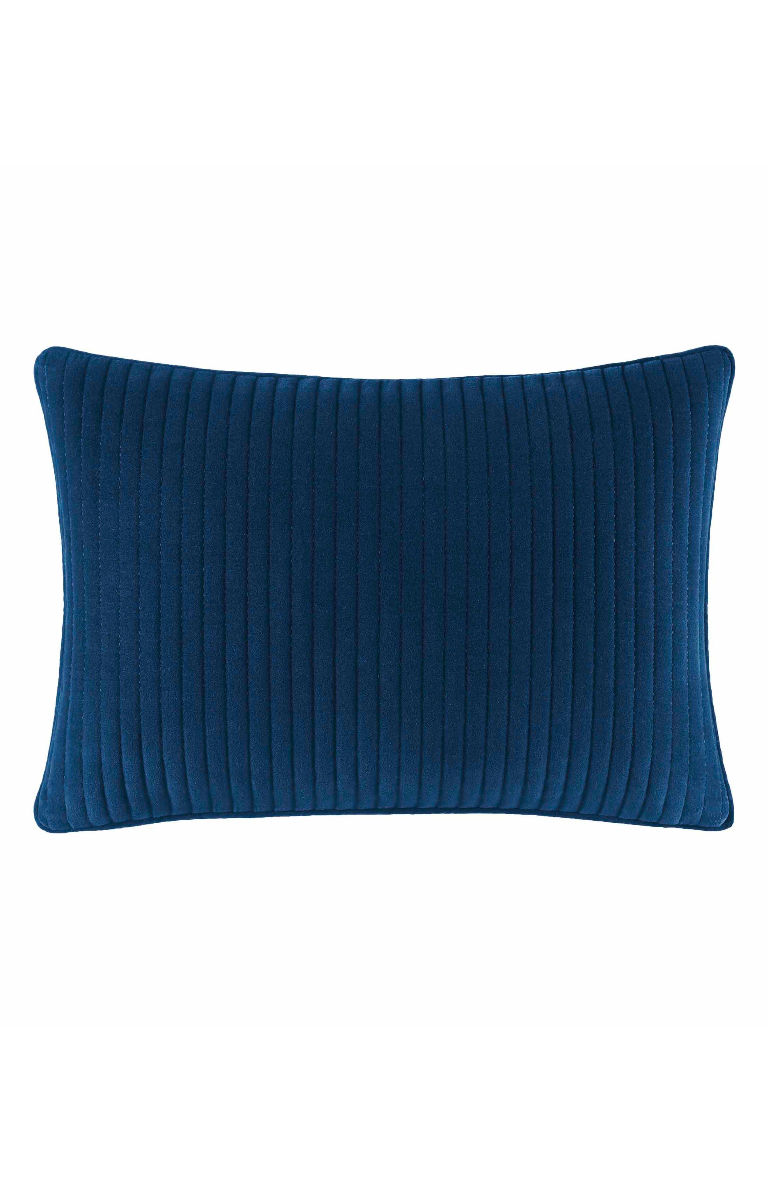 Cape Coral Pick Stitch Pillow,                         Main,                         color, Dark Blue