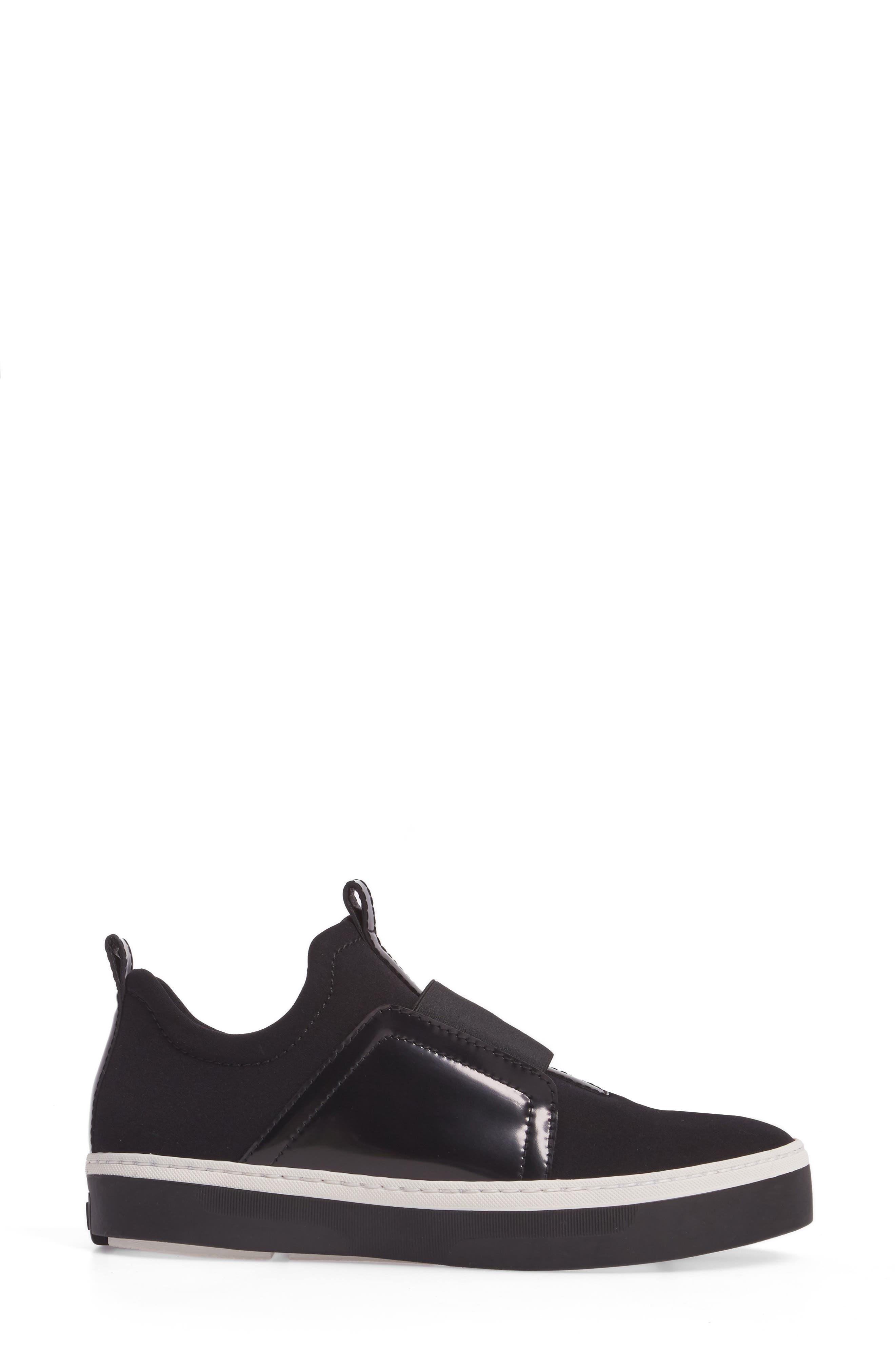 Wayfare Slip-On Sneaker,                             Alternate thumbnail 3, color,                             Black Neoprene