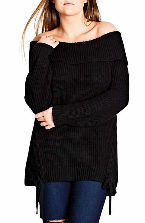 City Chic Intertwine Convertible Lace-Up Pullover (Plus Size)