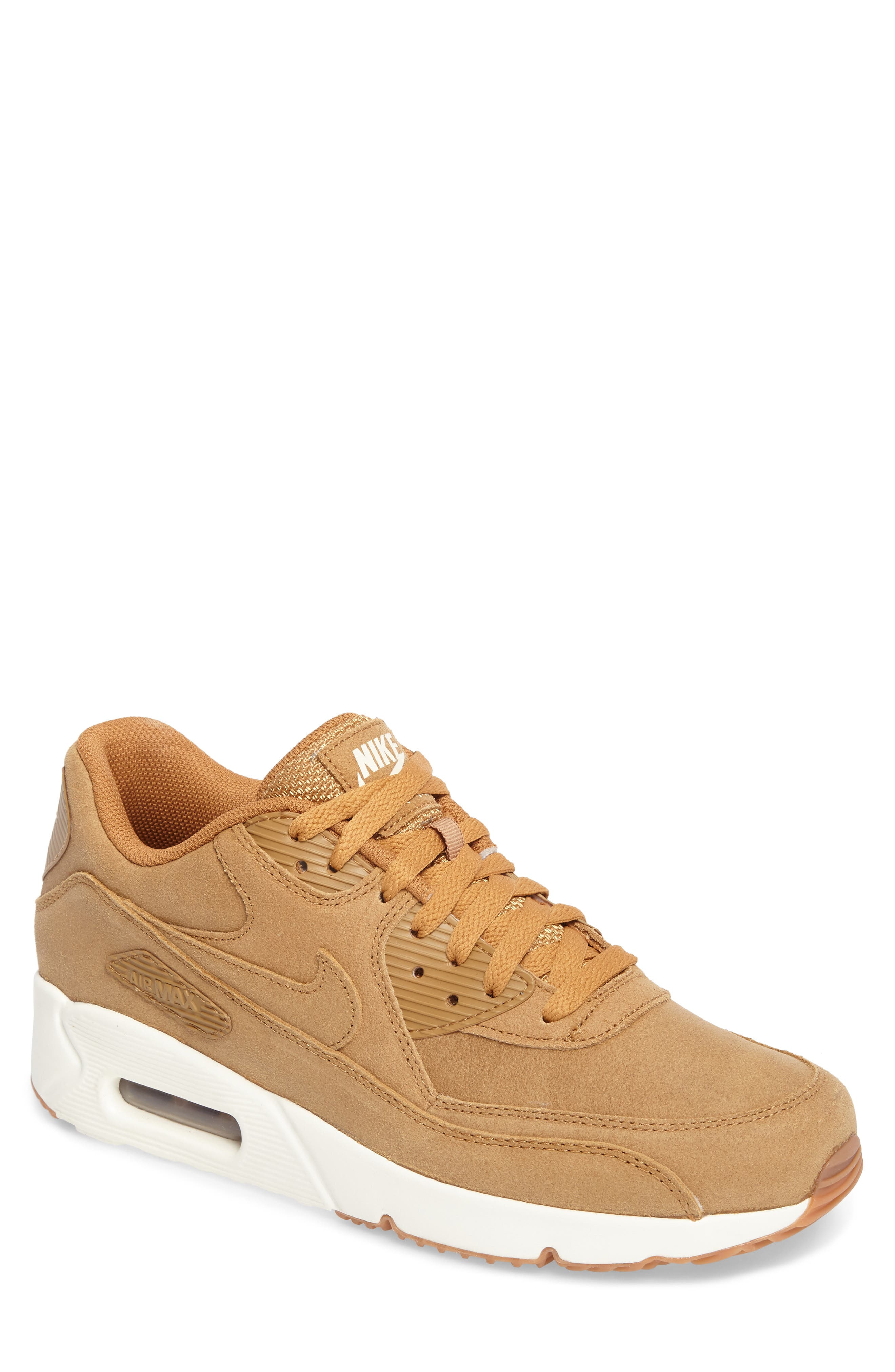Air Max 90 Ultra 2.0 Sneaker,                         Main,                         color, Flax/Flax/Sail/Gum Med Brown