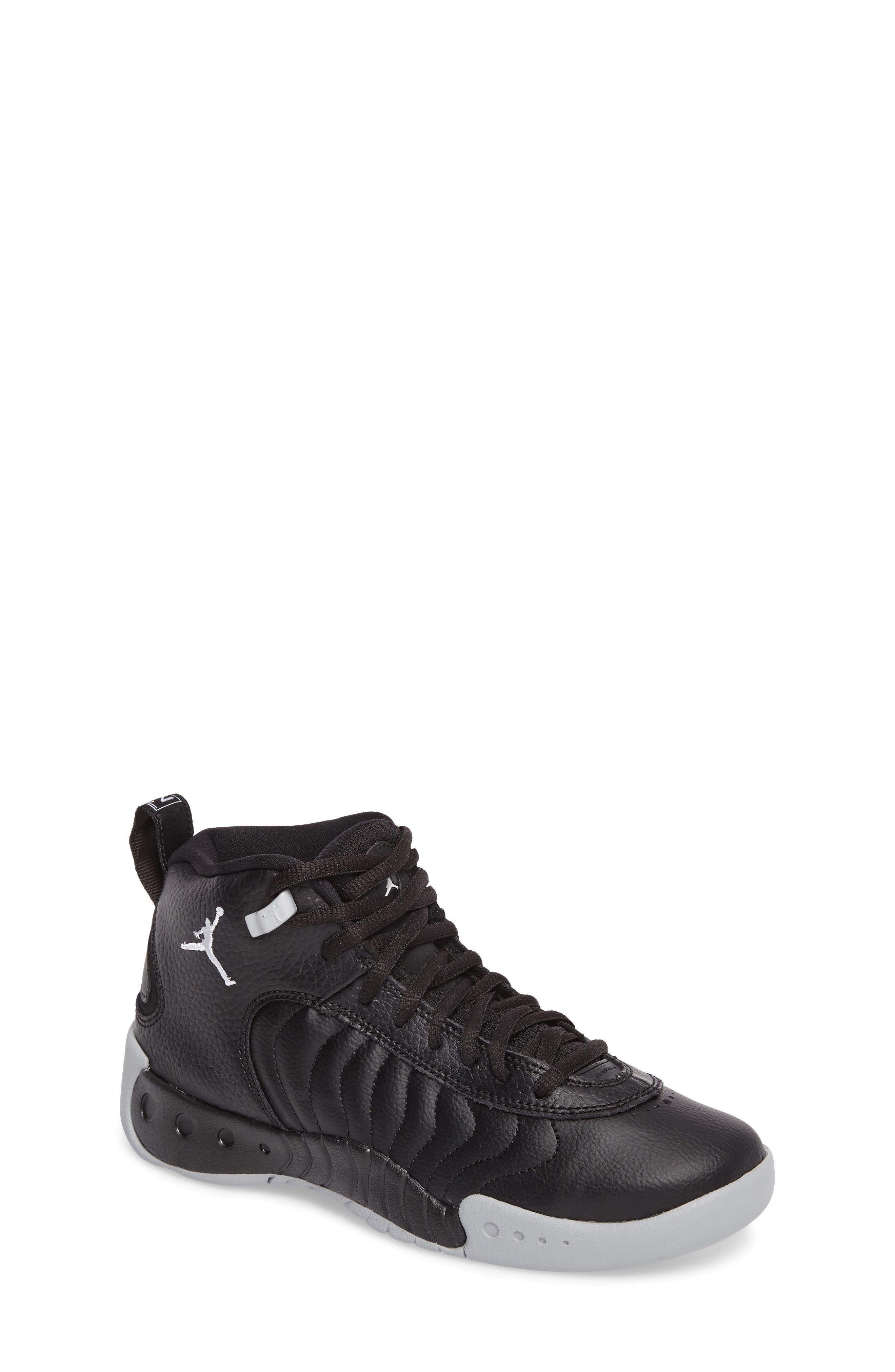 Jordan Jumpman Pro BG Mid Top Sneaker,                             Main thumbnail 1, color,                             Black/ White-Wolf Grey