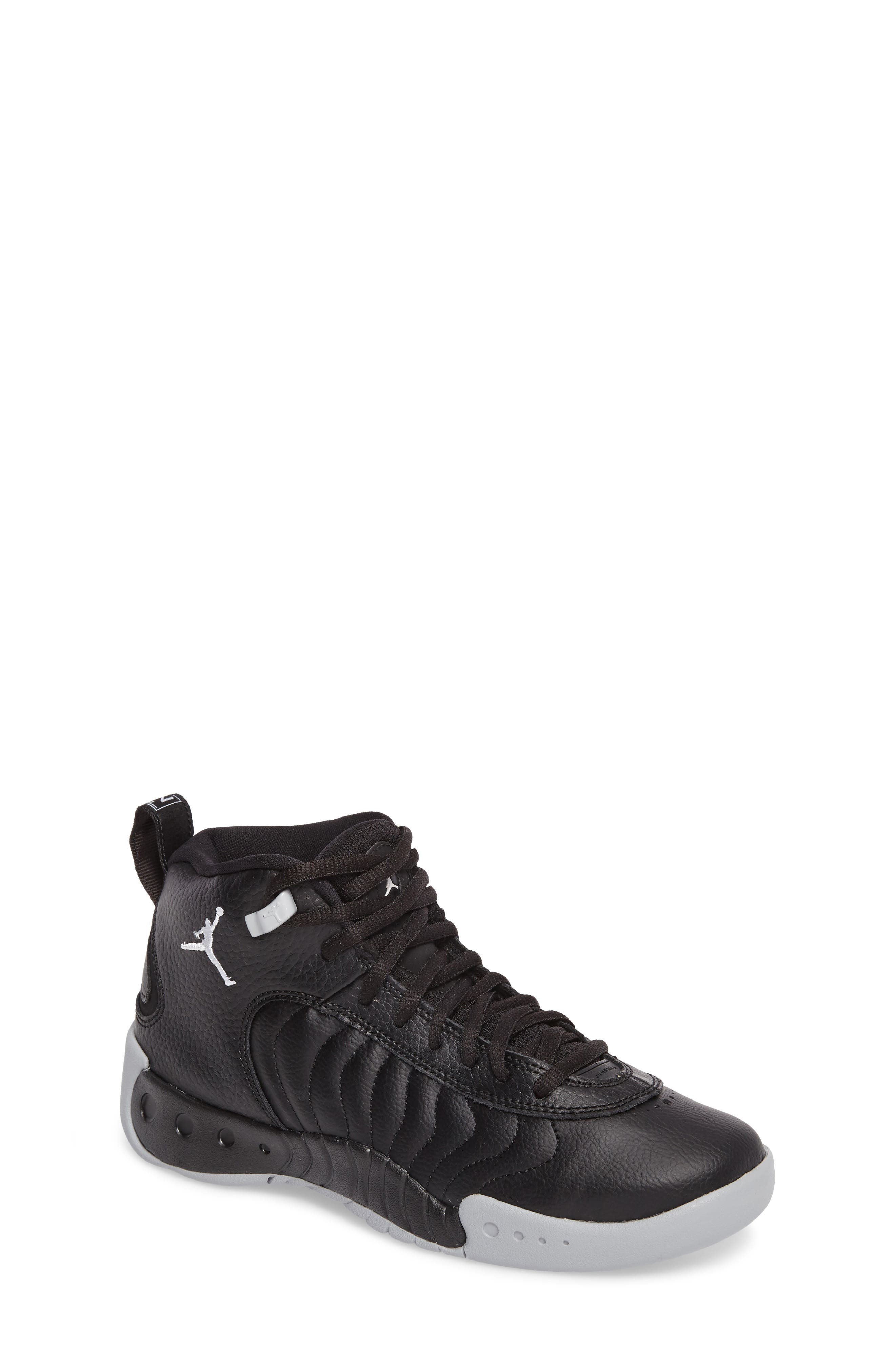Jumpman Pro BG Mid Top Sneaker,                         Main,                         color, Black/ White-Wolf Grey