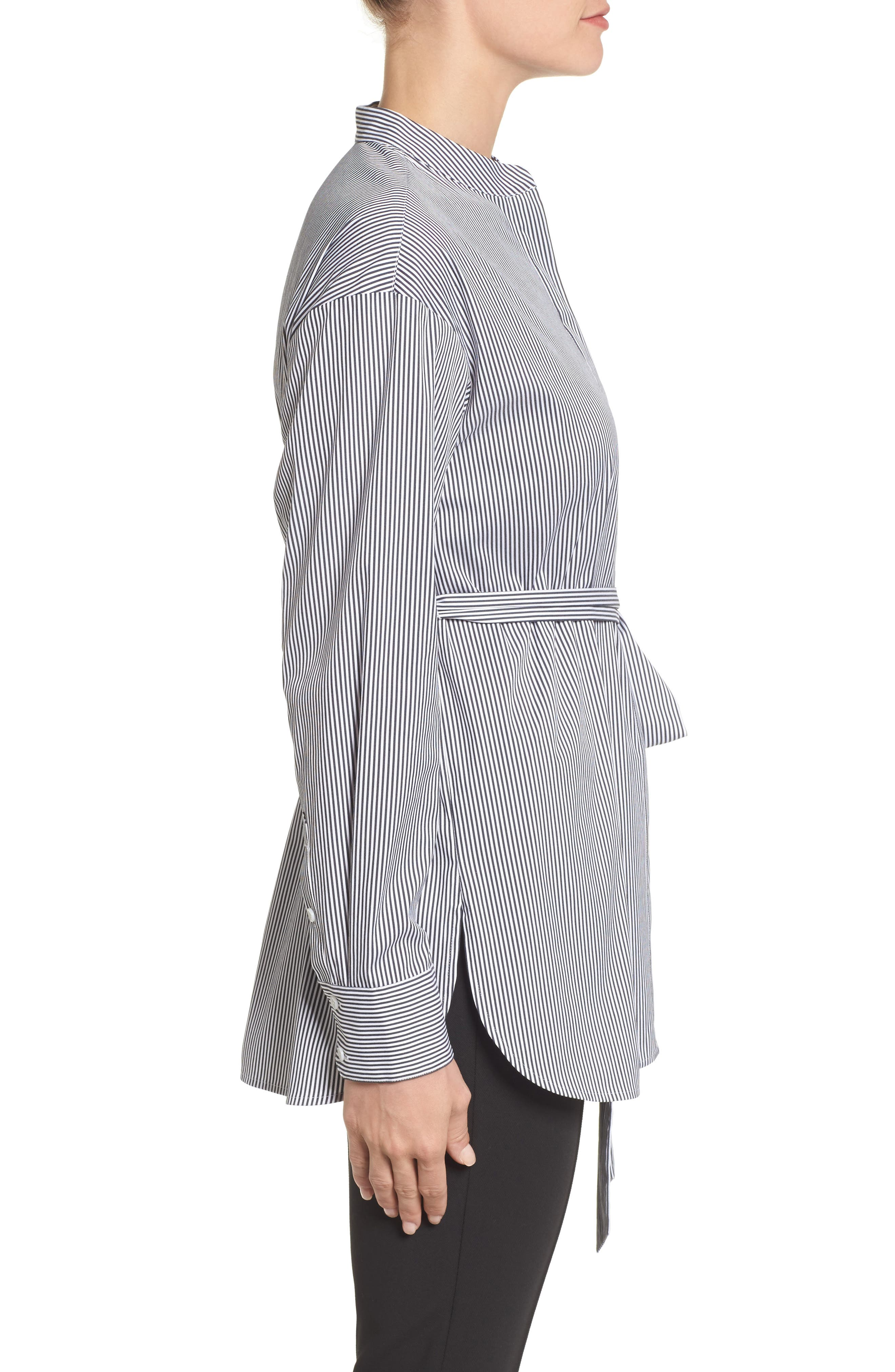 Alternate Image 3  - Halogen® Belted Poplin Shirt (Regular & Petite)