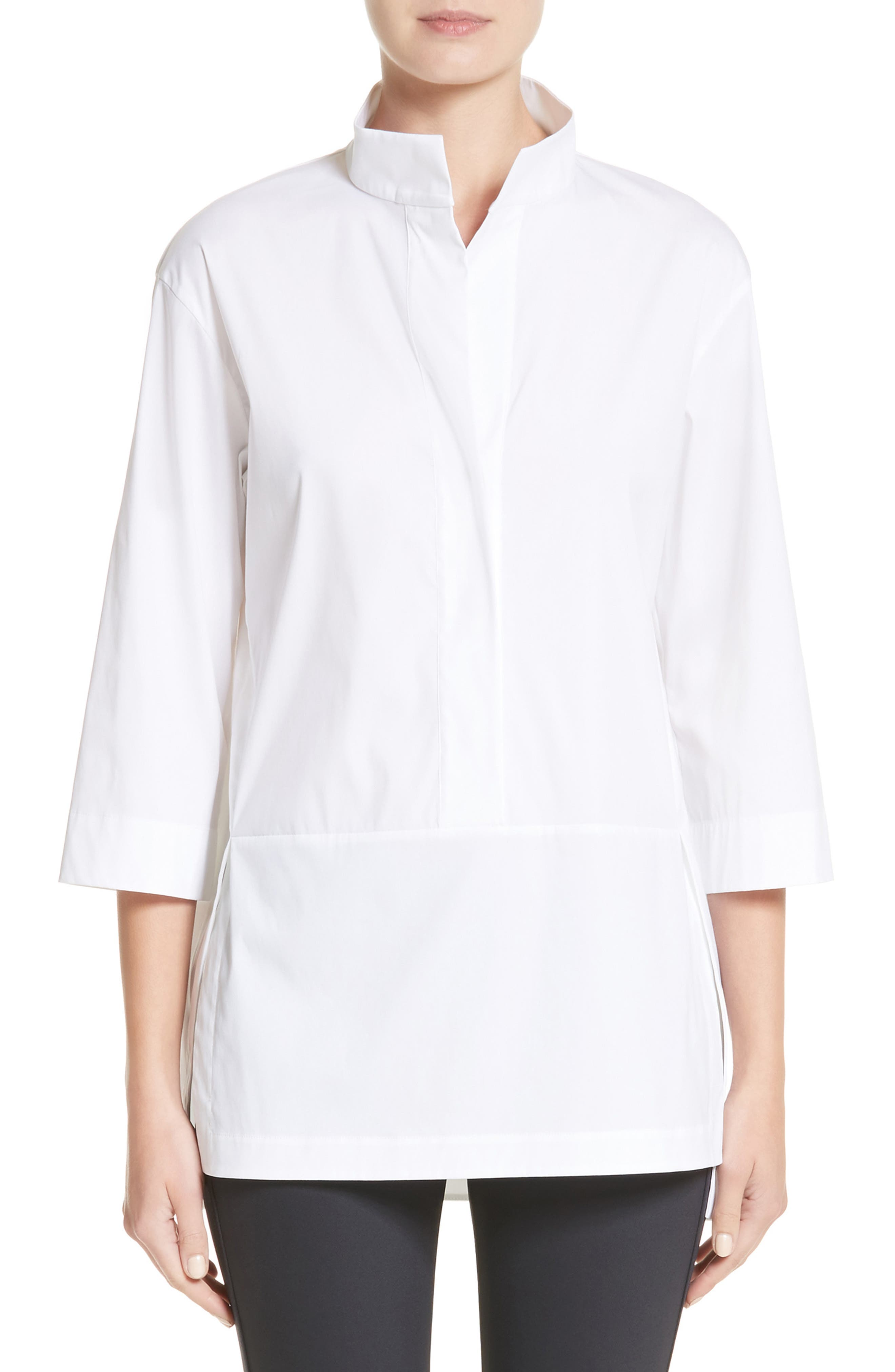 Alternate Image 1 Selected - Lafayette 148 New York Dylan Cotton Blend Blouse