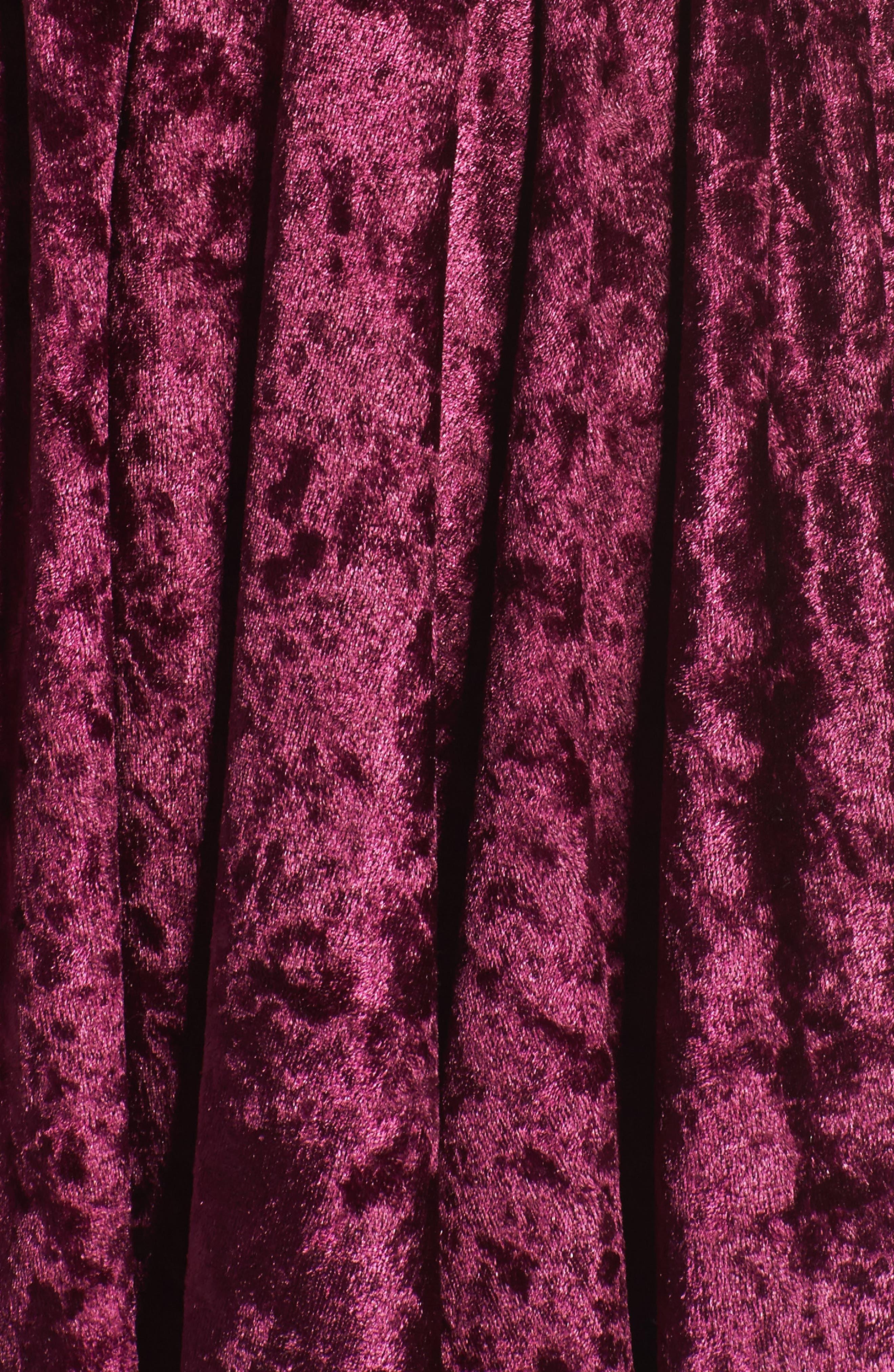 Velvet Lounge Romper,                             Alternate thumbnail 6, color,                             Burgundy
