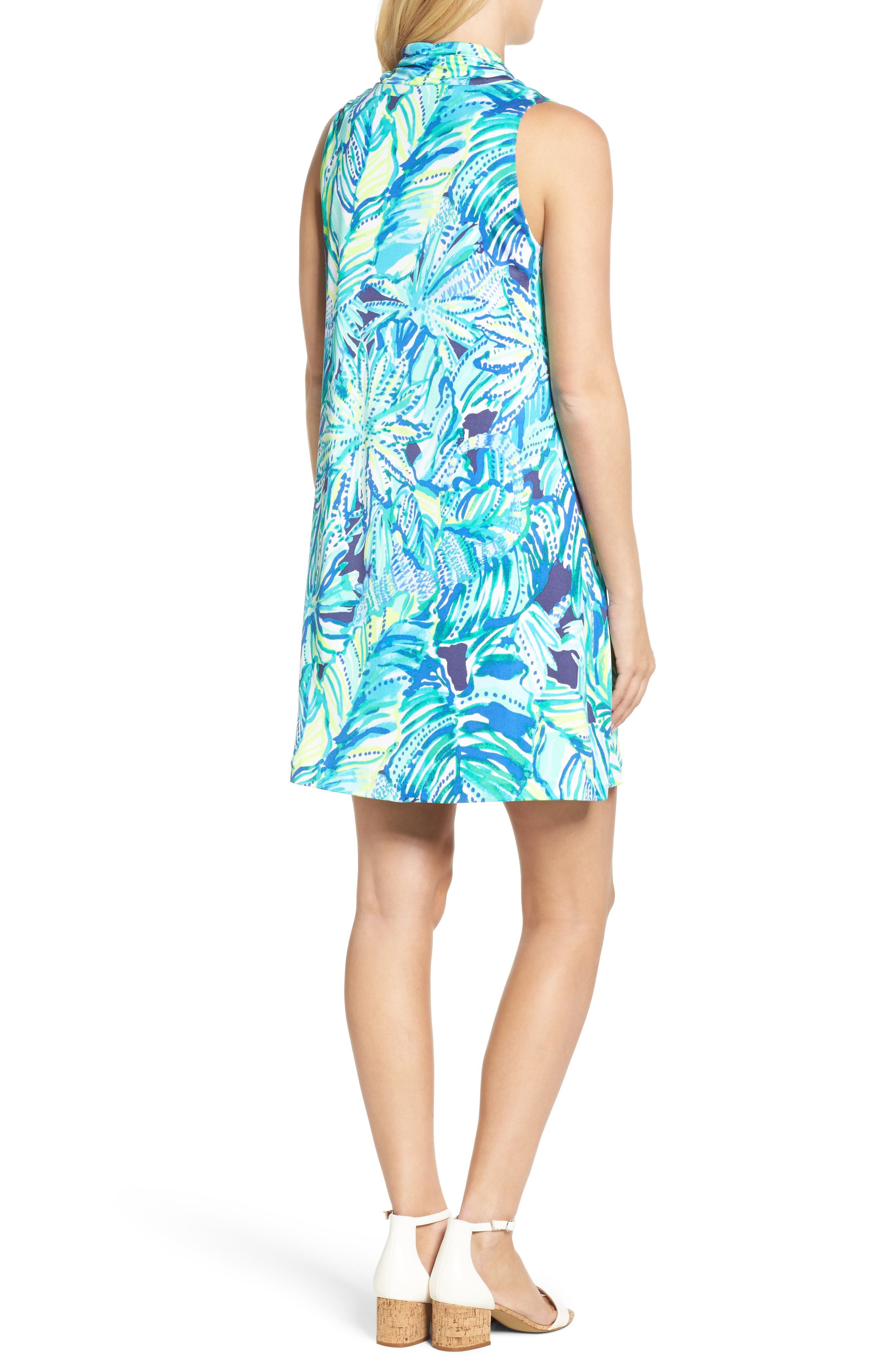 Lyza Silk Shift Dress,                             Alternate thumbnail 2, color,                             Bright Navy Dally
