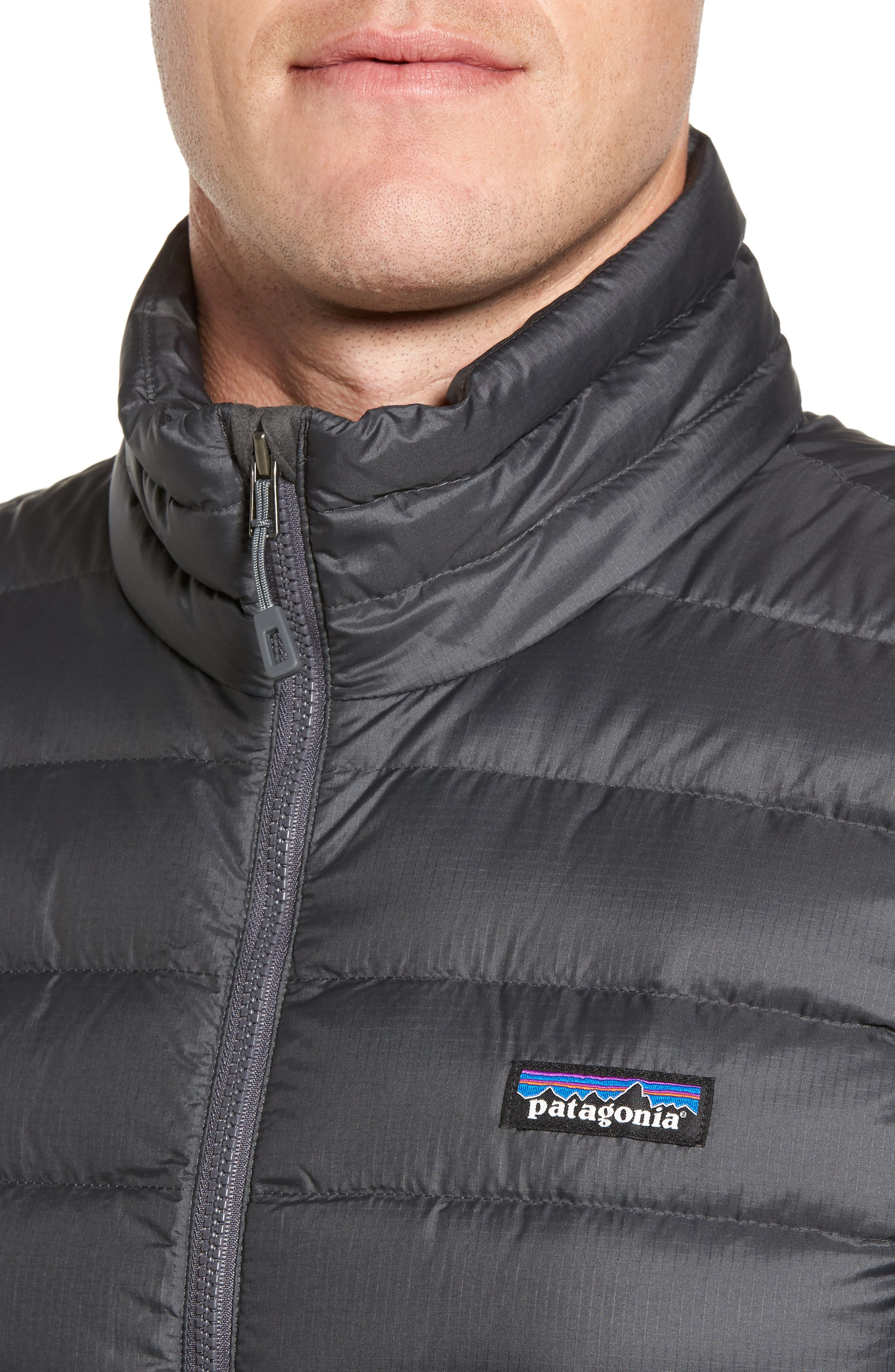 Windproof & Water Resistant 800 Fill Power Down Quilted Vest,                             Alternate thumbnail 4, color,                             Forge Grey W/ Forge Grey