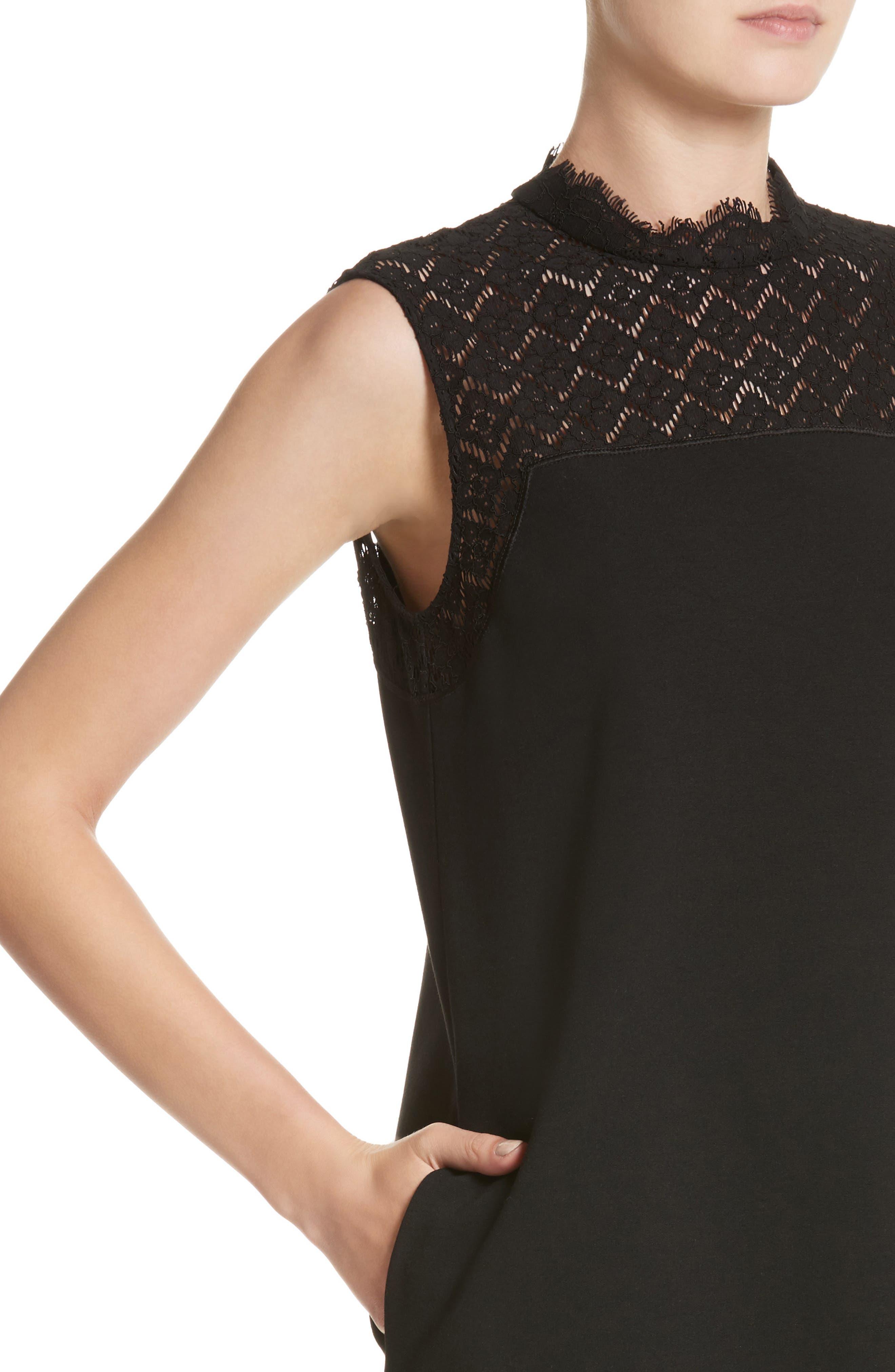 Alternate Image 4  - Lafayette 148 New York Ines Lace Trim Shift Dress